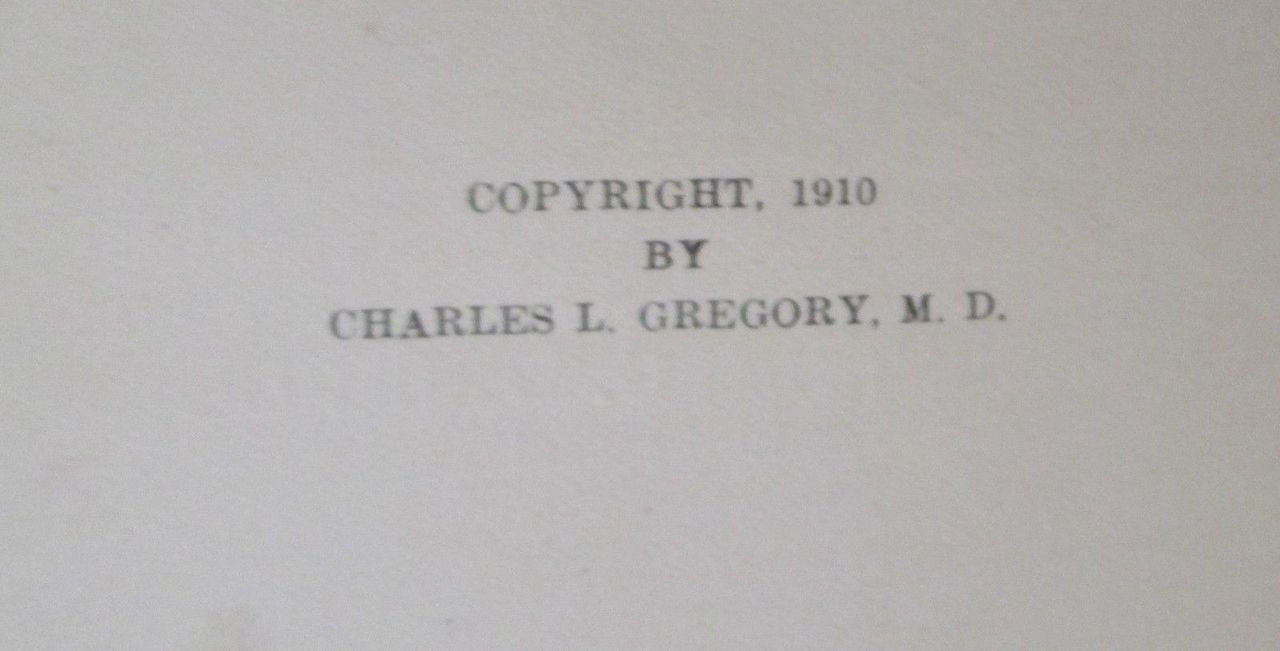 ALCOHOLISM & INSANITY, by Charles L. Gregory - 1910 [1st Ed]