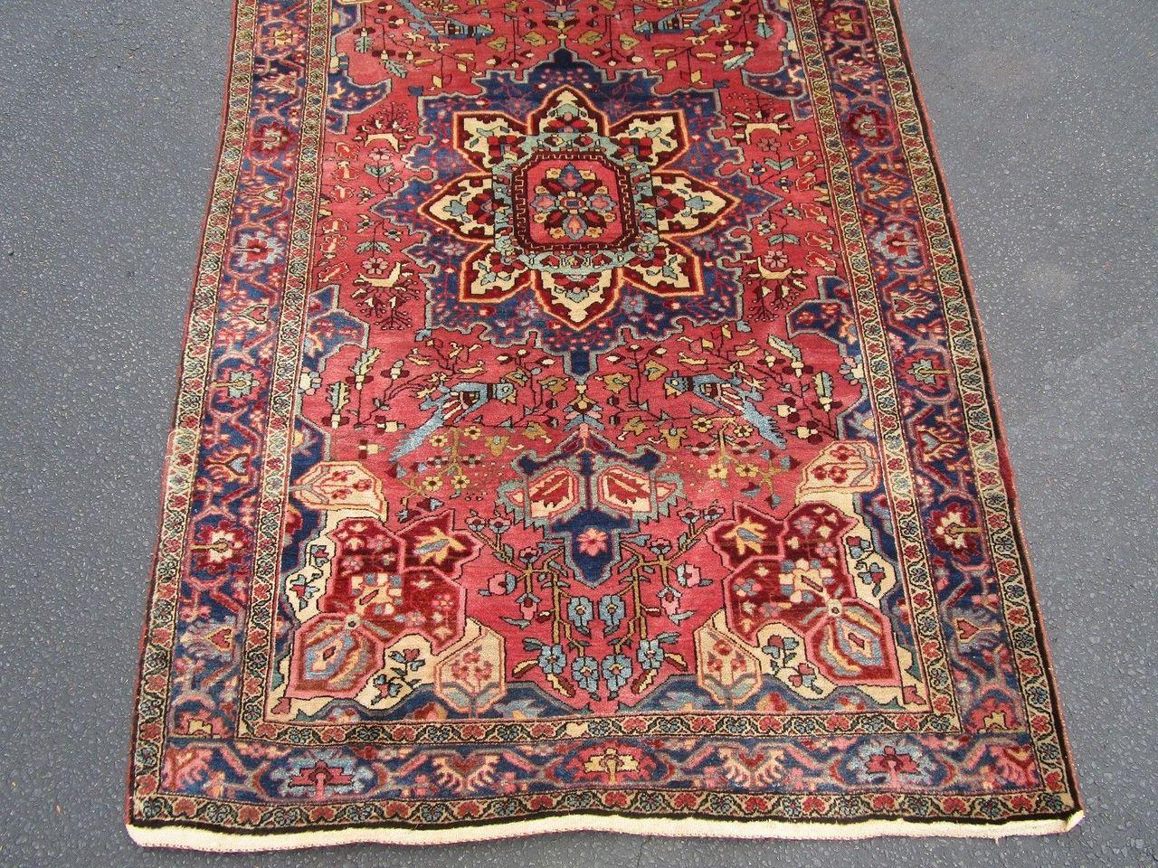 ANTIQUE SAROUK FEHREHAN PERSIAN CARPET - Tribal Multicolor [7' x 4.5']