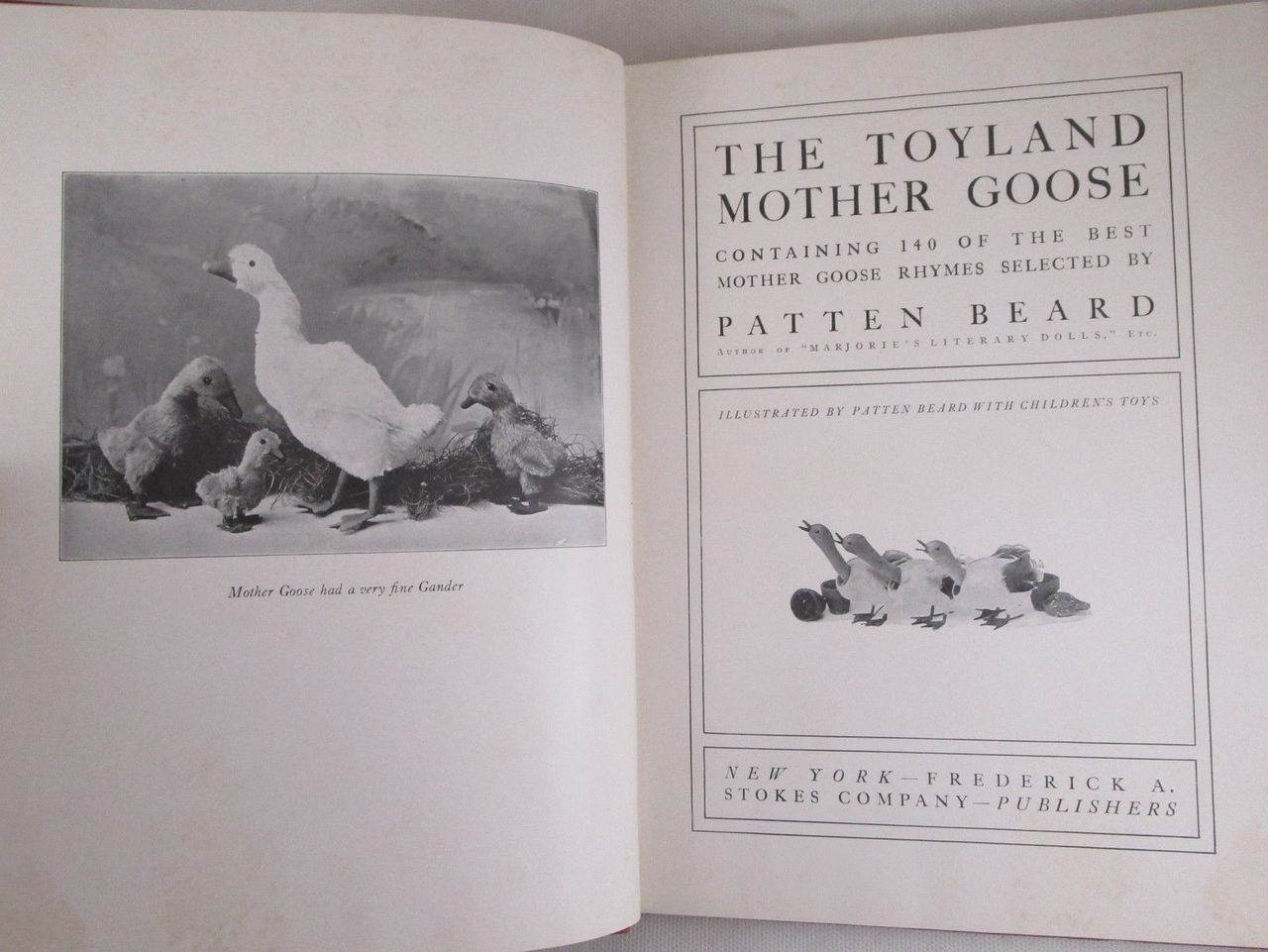 THE TOYLAND: MOTHER GOOSE, by Patten Beard - 1917 [1st Ed]