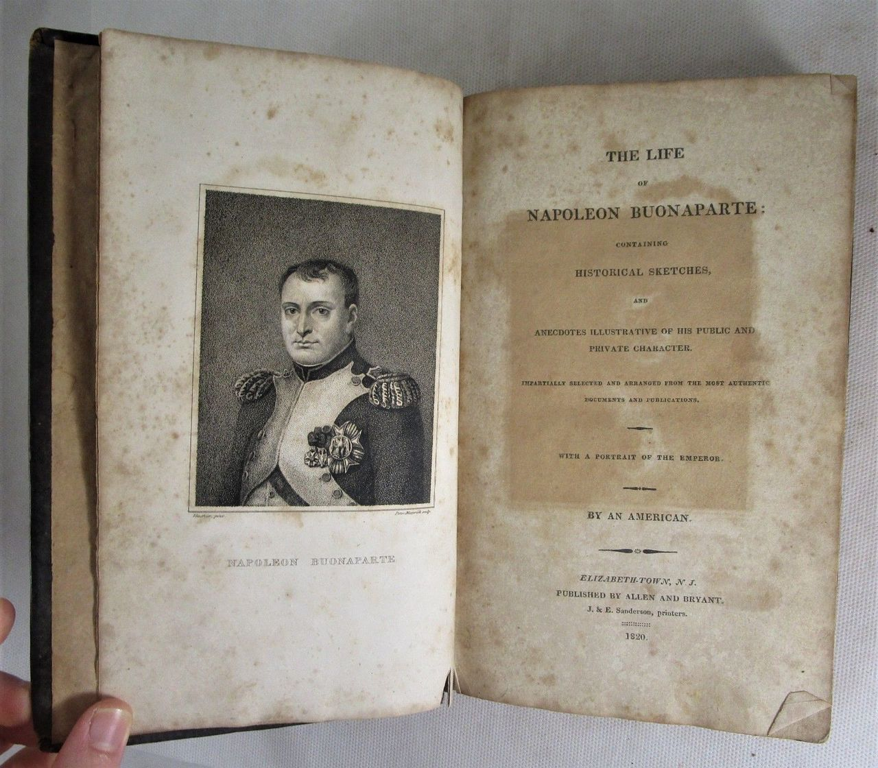 THE LIFE OF NAPOLEON BUONAPARTE, by an American - 1820