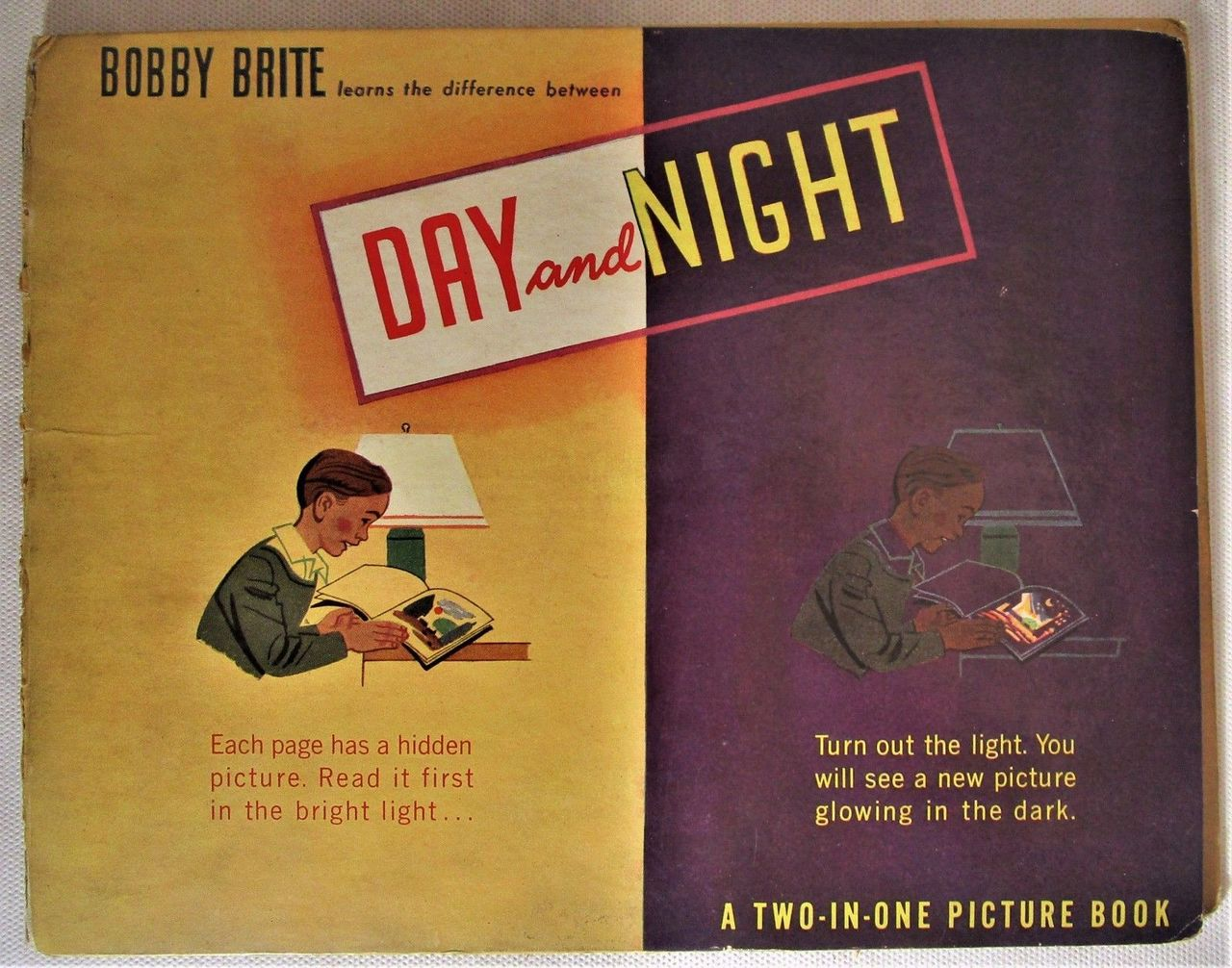 BOBBY BRITE LEARNS THE DIFFERENCE BETWEEN DAY AND NIGHT, by Richard Fechheimer; Denver L Gillen (illus) - 1946