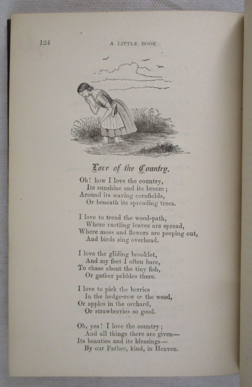 A LITTLE BOOK FOR LITTLE FOLKS - Undated Henry Longstreth Philadelphia Poetry VG