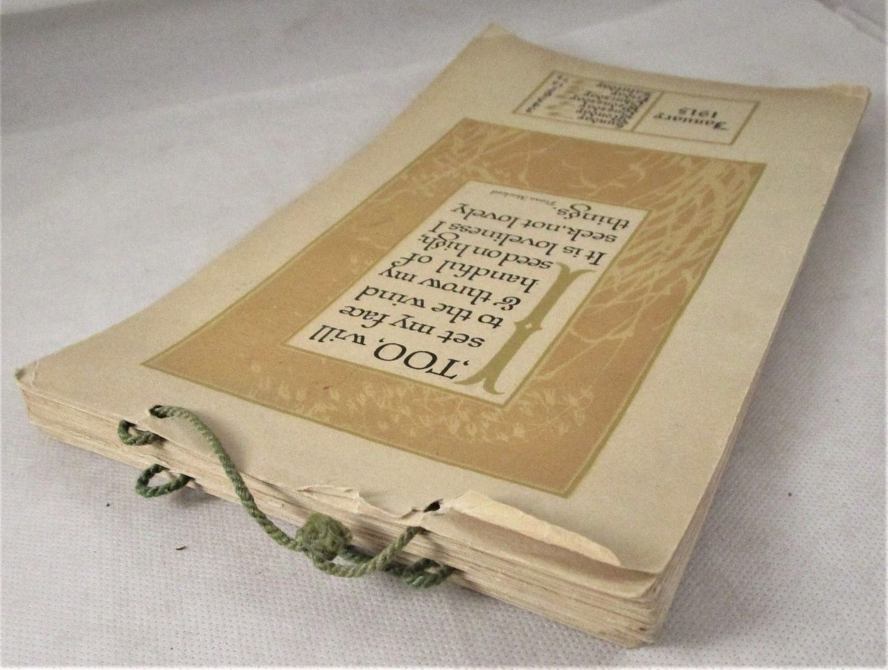 PAUL ELDER CALENDARS -1915/17