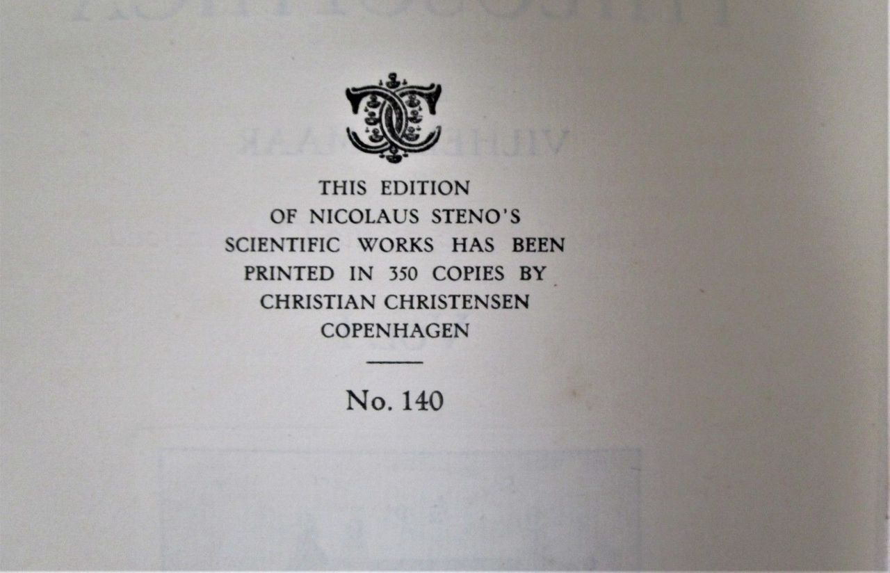 OPERA PHILOSOPHICA, by Nicolaus Steno - 1910 [2 Vols; 140/350]