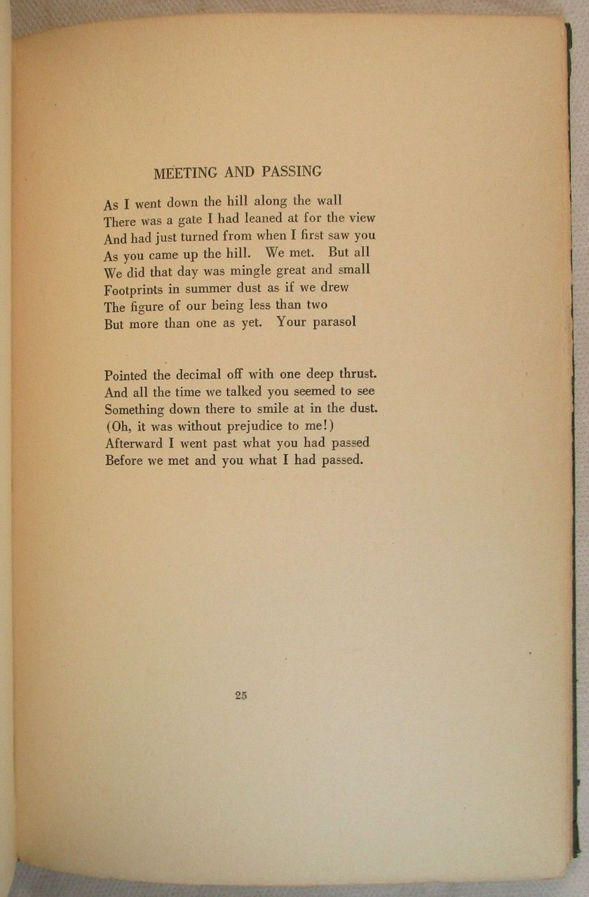 MOUNTAIN INTERVAL, Robert Frost - 1921 [Signed]