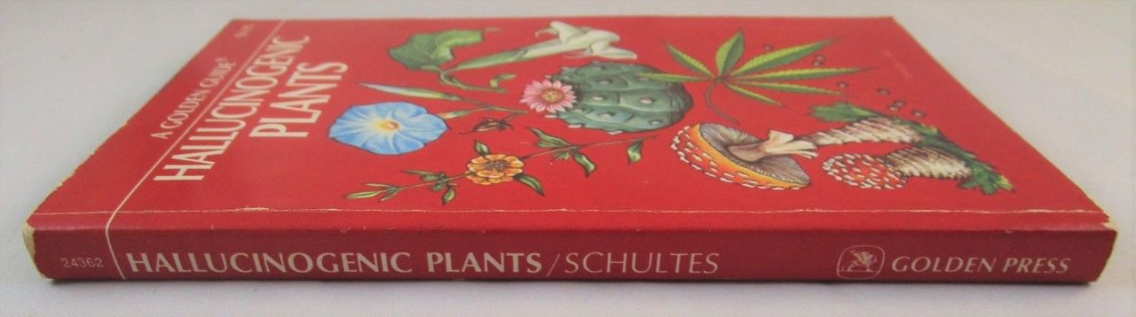 HALLUCINOGENIC PLANTS, Richard Evans Schultes - 1976 Golden Guide Ethnobotany VG