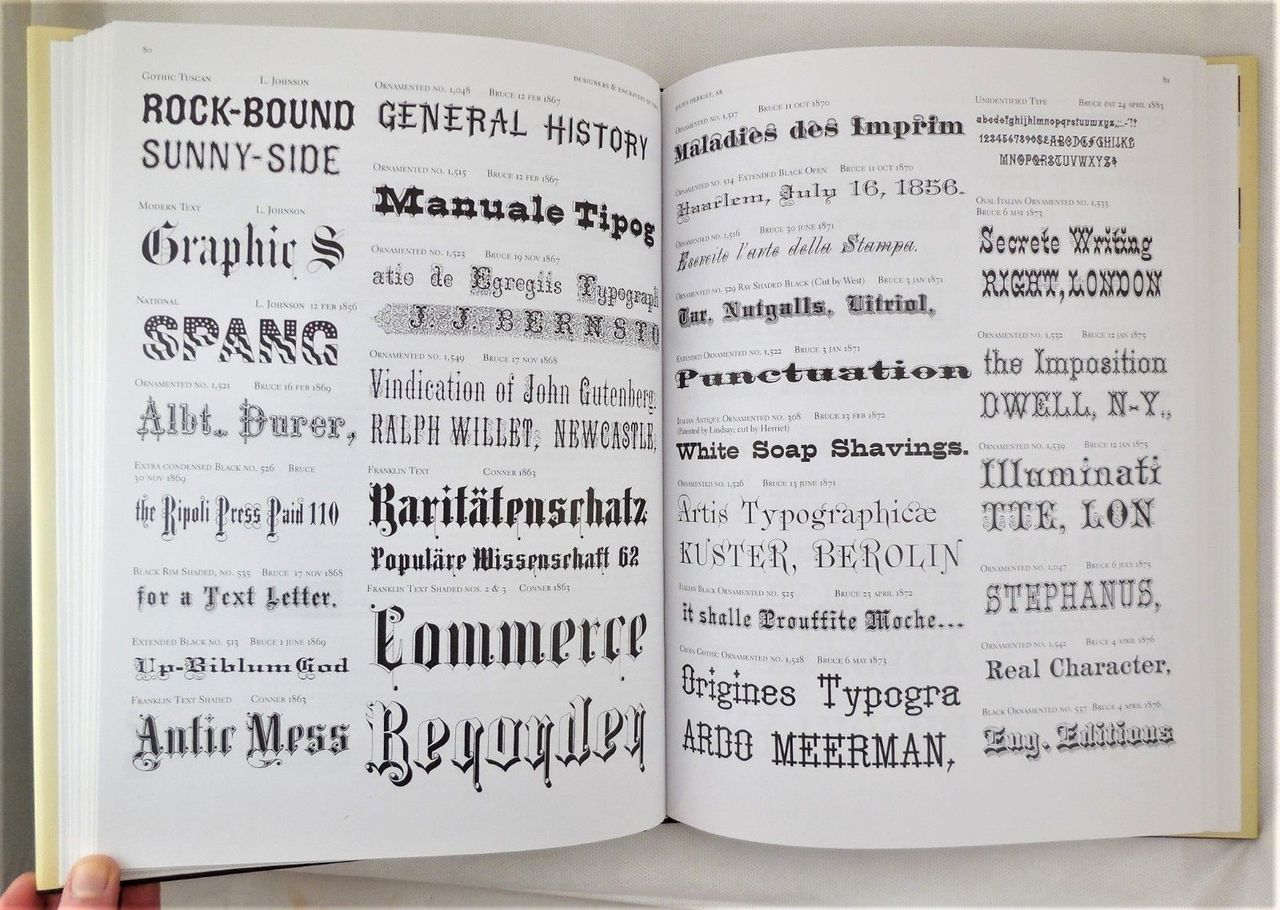 NINETEENTH CENTURY AMERICAN DESIGNERS & ENGRAVERS OF TYPE, by William E. Loy - 2009 [1st Ed]
