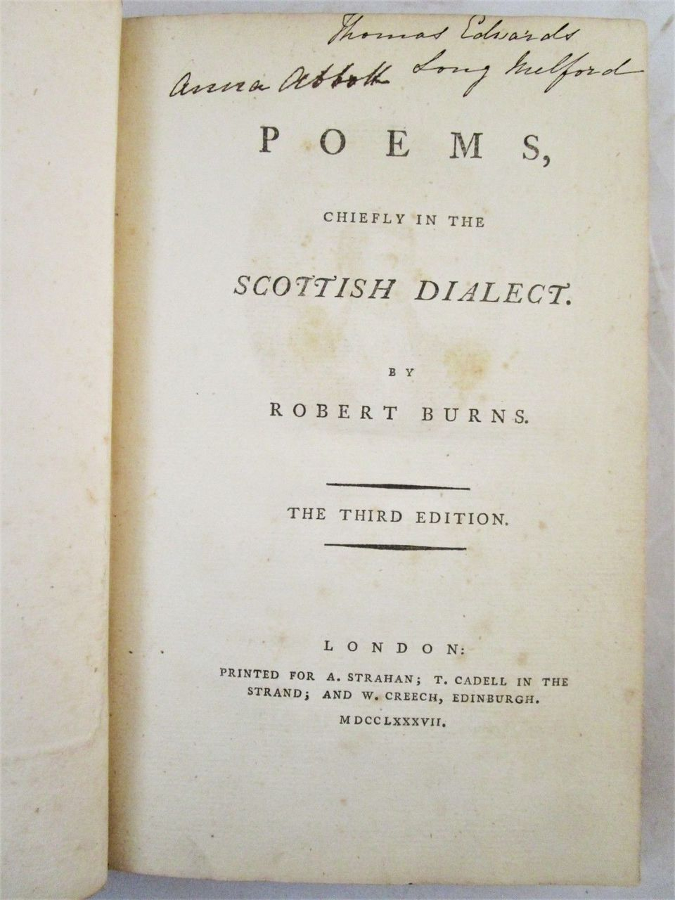 POEMS IN SCOTTISH DIALECT, by Robert Burns - 1787