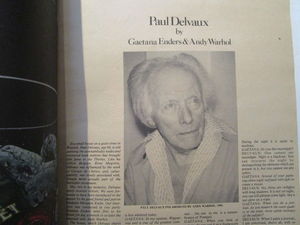Andy Warhol's INTERVIEW MAGAZINE - Oct 1981 [SIGNED]