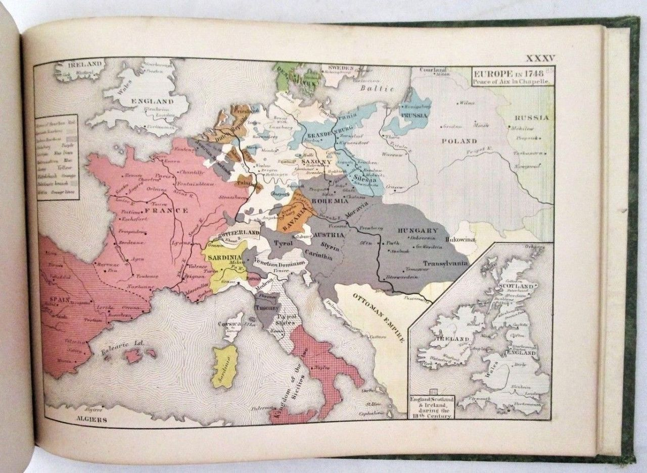 AN HISTORICAL ATLAS, by Robert H Labberton -1872