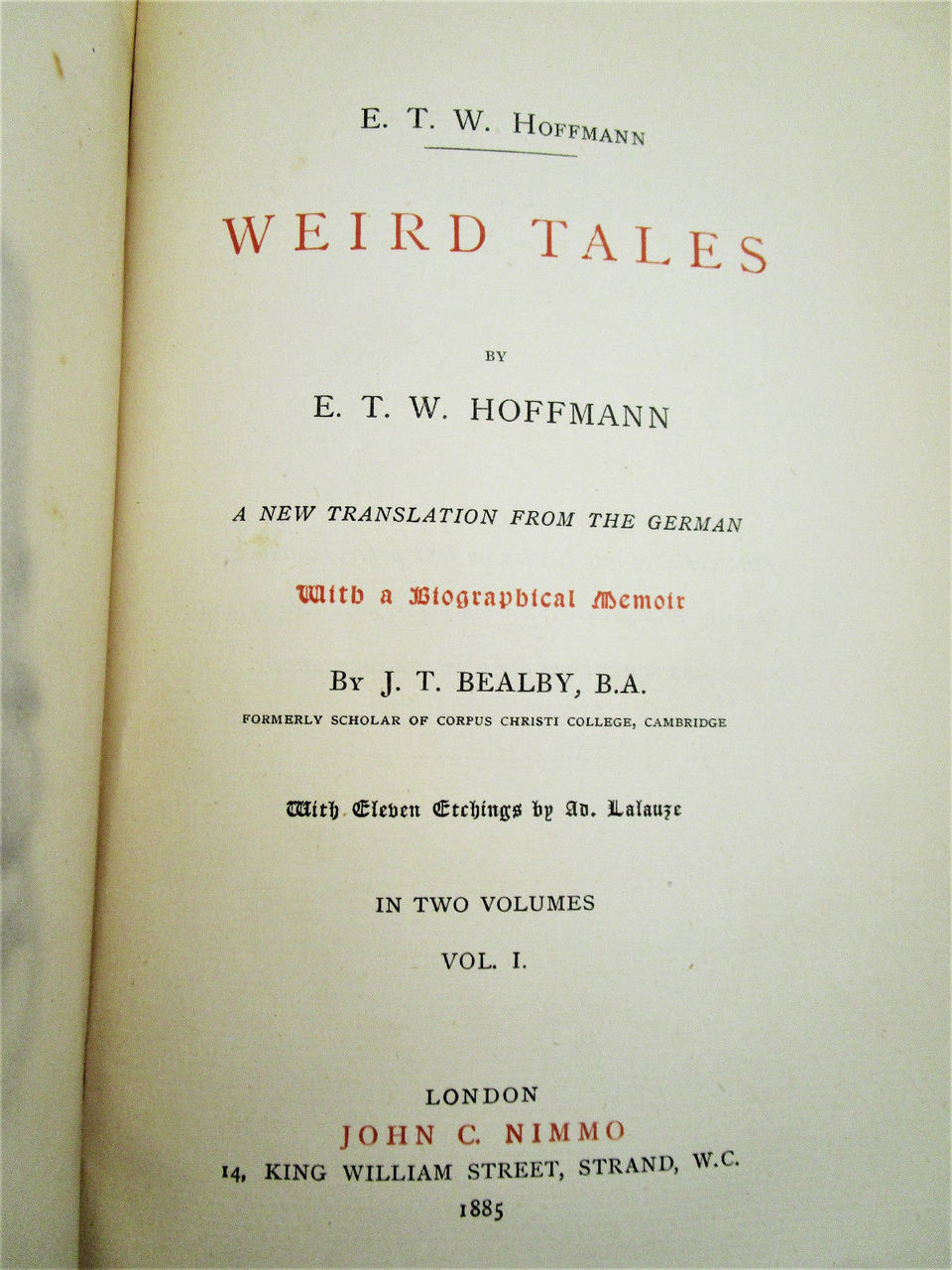 WEIRD TALES, by E.T.W. Hoffmann; A. Lalauze - 1885 [Ltd Ed w/Etchings]