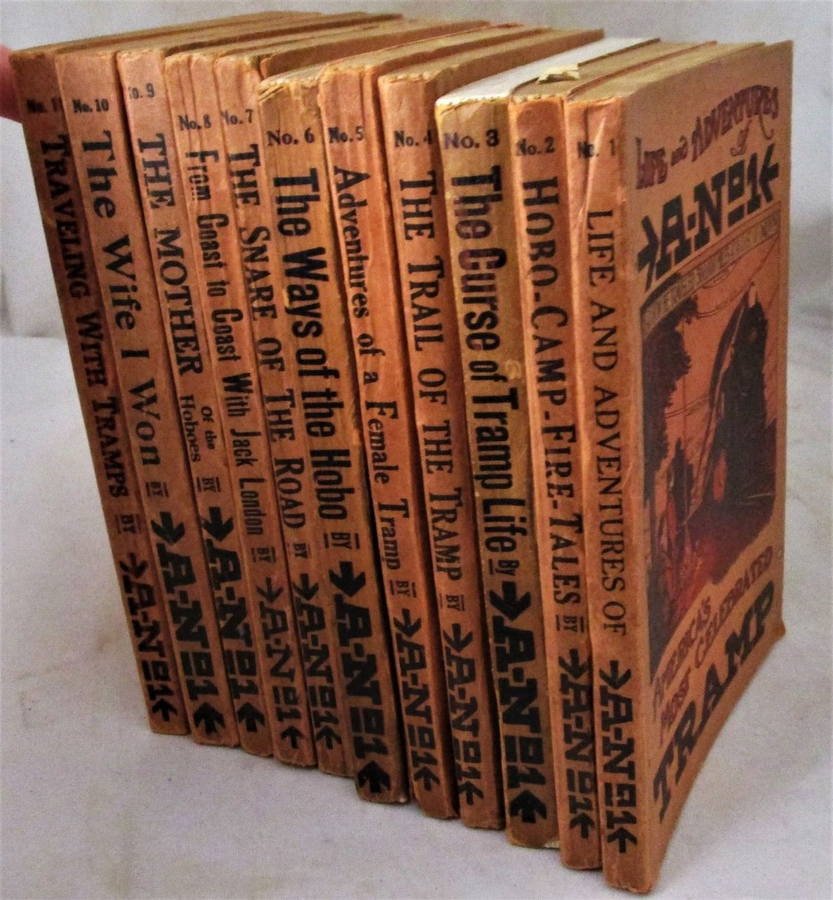 THE FAMOUS TRAMP, by A No.1 [11 vols] - 1910