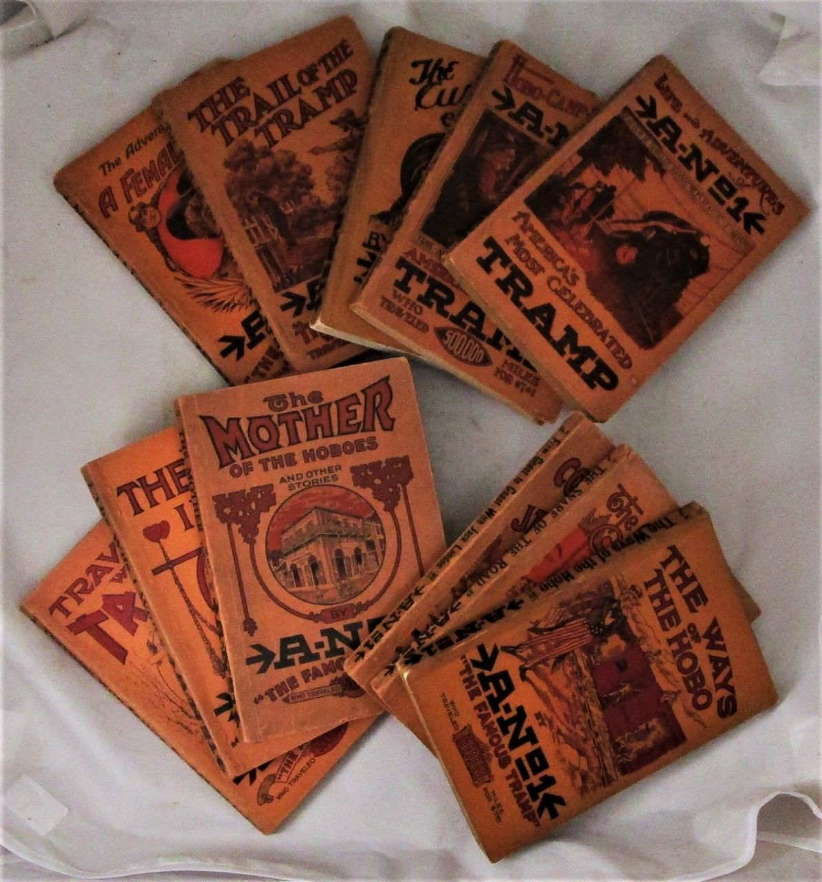 THE FAMOUS TRAMP, by A No.1 [Complete Set of 11] Jack London (3 1st-Prints) 1910