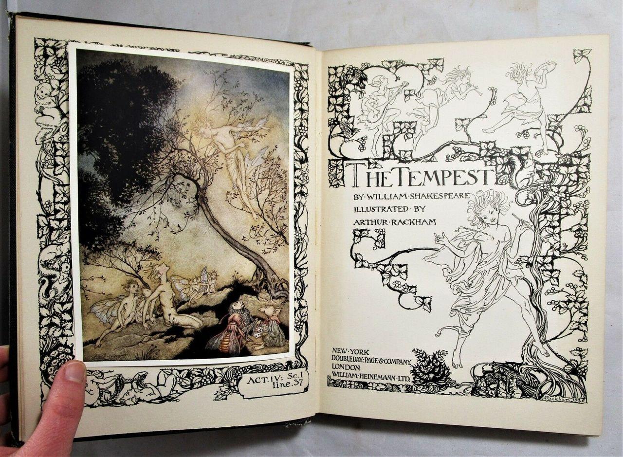 THE TEMPEST, by William Shakespeare; illustr: Arthur Rackham - 1924