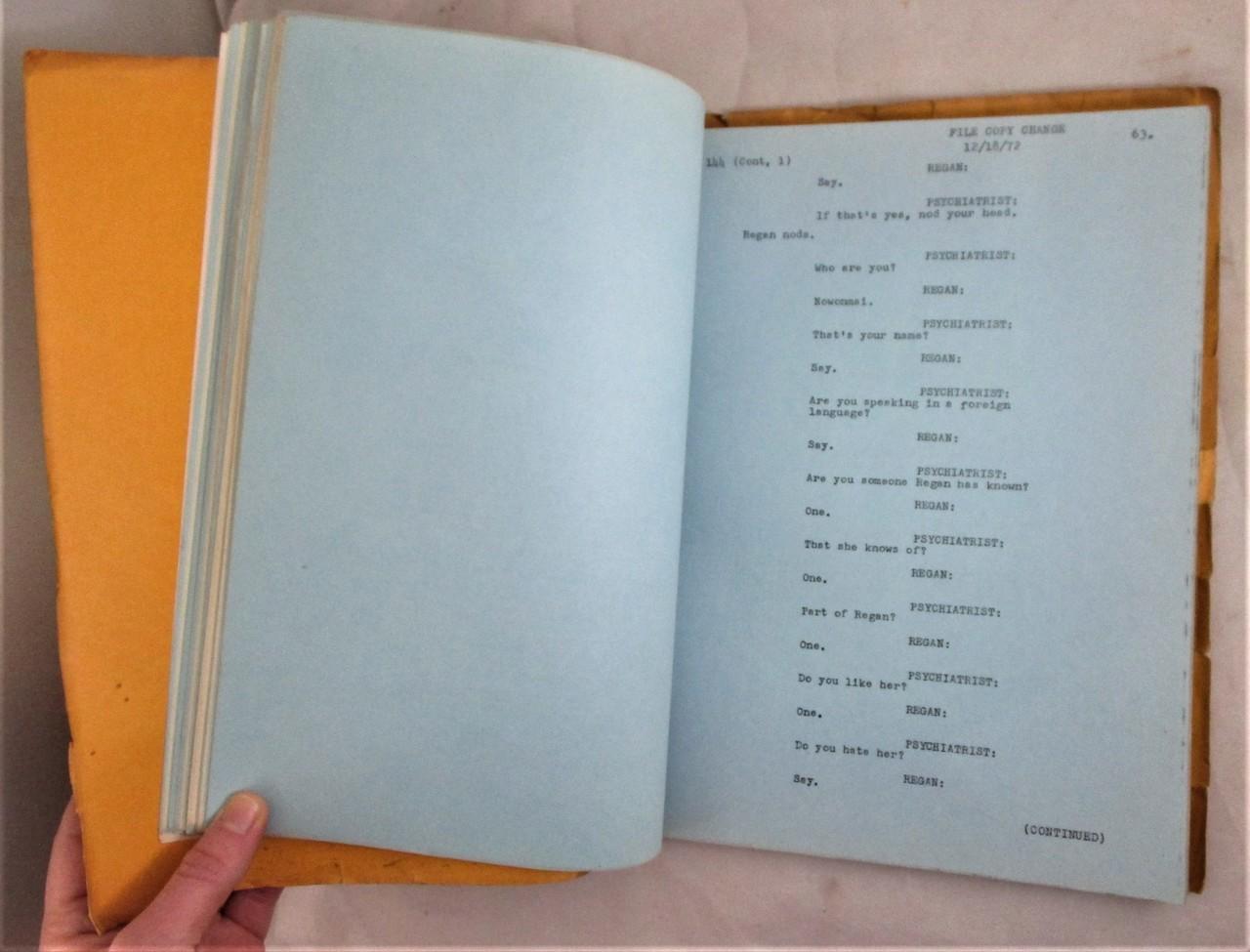 THE EXORCIST, by Wm P Blatty - 1972 [Original Warner Bros Script]