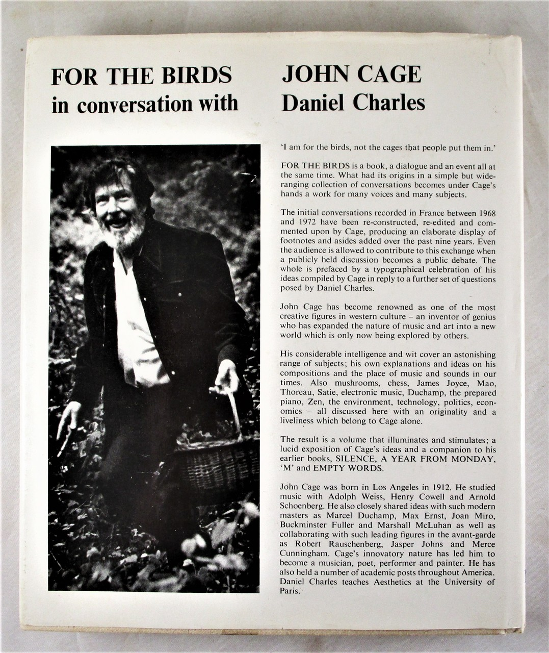 FOR THE BIRDS: John Cage in Conversation with Daniel Charles - 1981 [Signed]