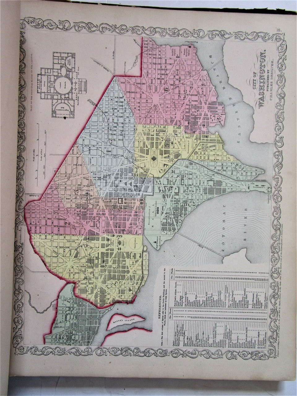 NEW UNIVERSAL ATLAS OF THE WORLD, by Mitchell - 1857 [Desilver]