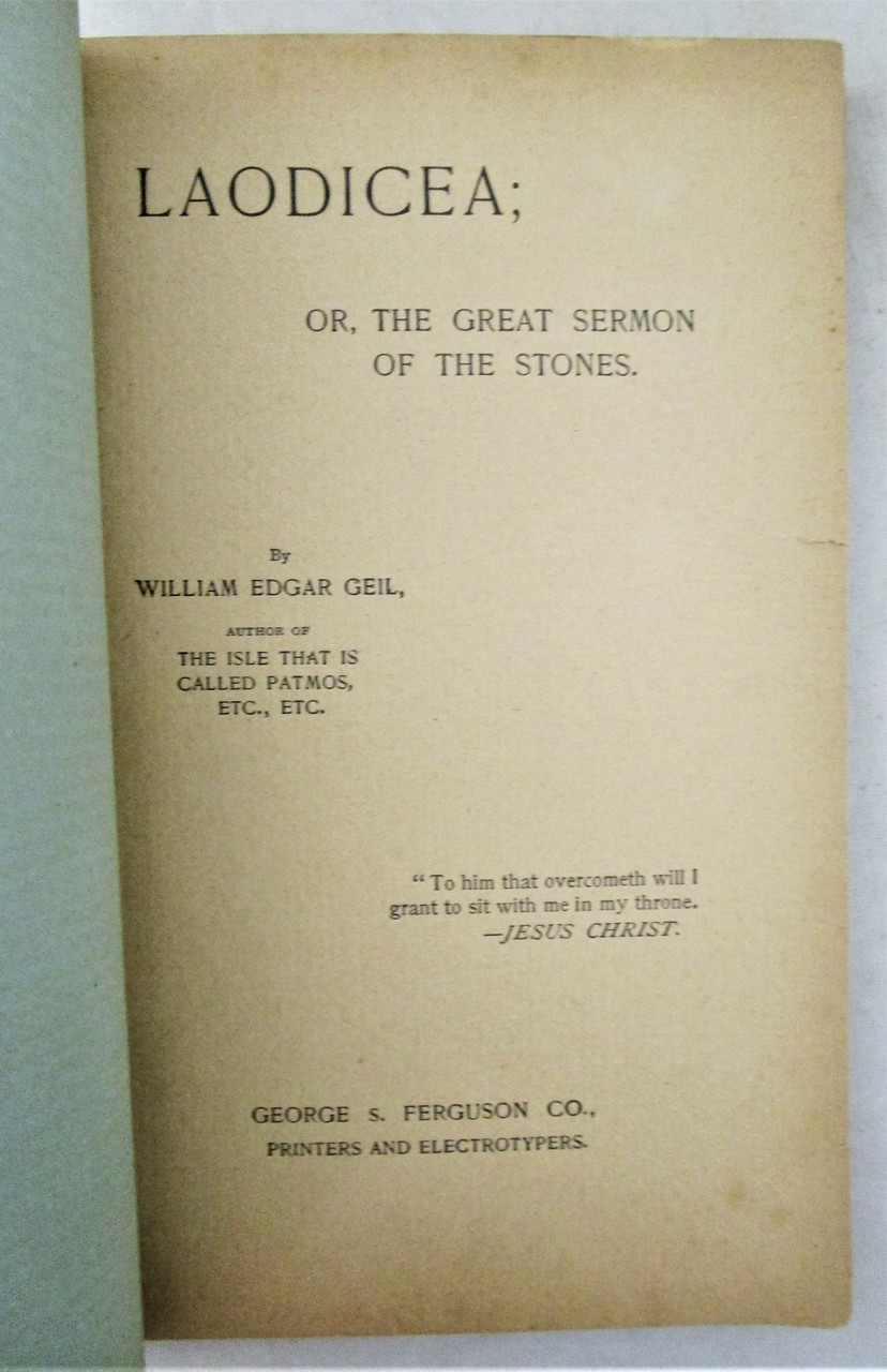 LAODICEA, by William Edgar Geil - 1897