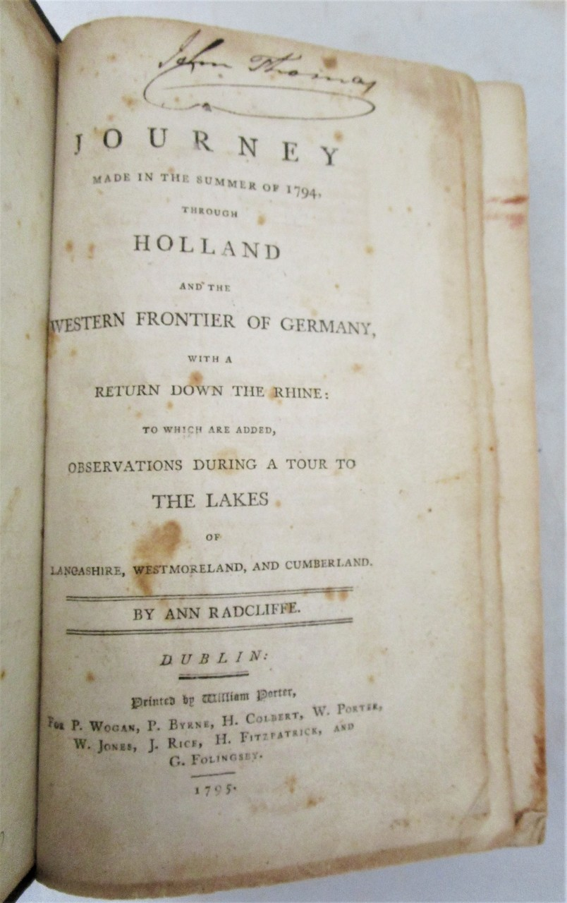 A JOURNEY THROUGH HOLLAND & WESTERN GERMANY, by Ann Radcliffe - 1795