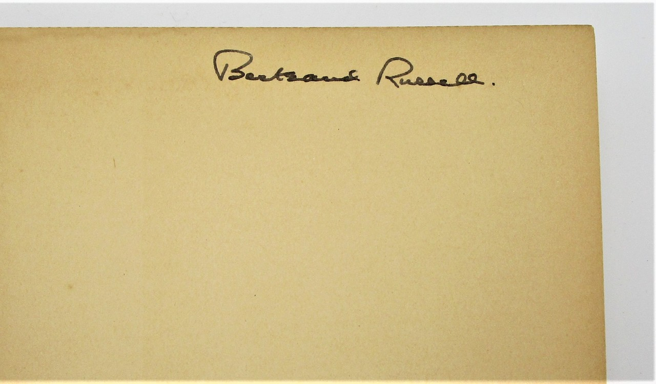 IN PRAISE OF IDLENESS & OTHER ESSAYS, by Bertrand Russell - 1935 [Signed 1st Ed]