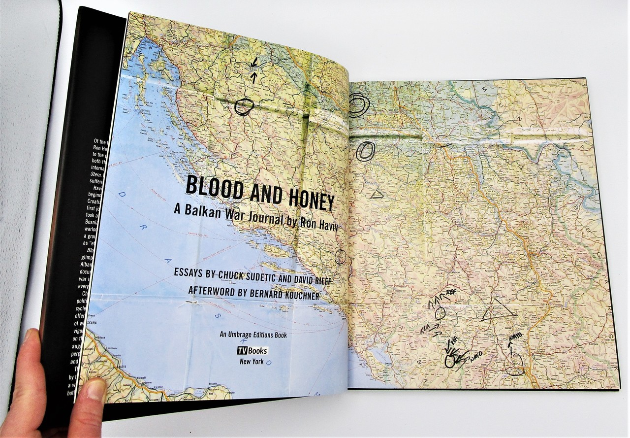 BLOOD AND HONEY: A BALKAN WAR JOURNAL, by Ron Haviv - 2000  [Signed 1st Ed]