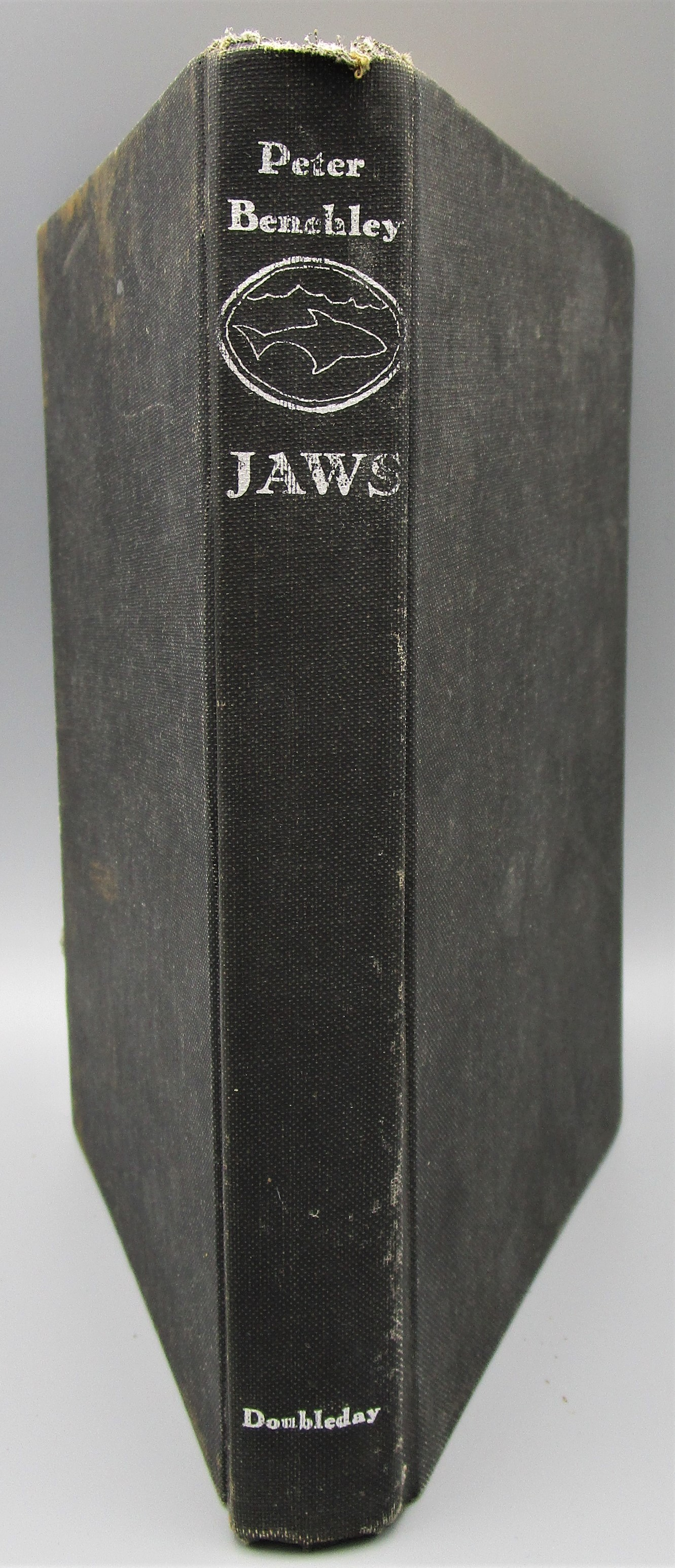 JAWS, by Peter Benchley - 1974 [1st Ed, Signed w/drawing]