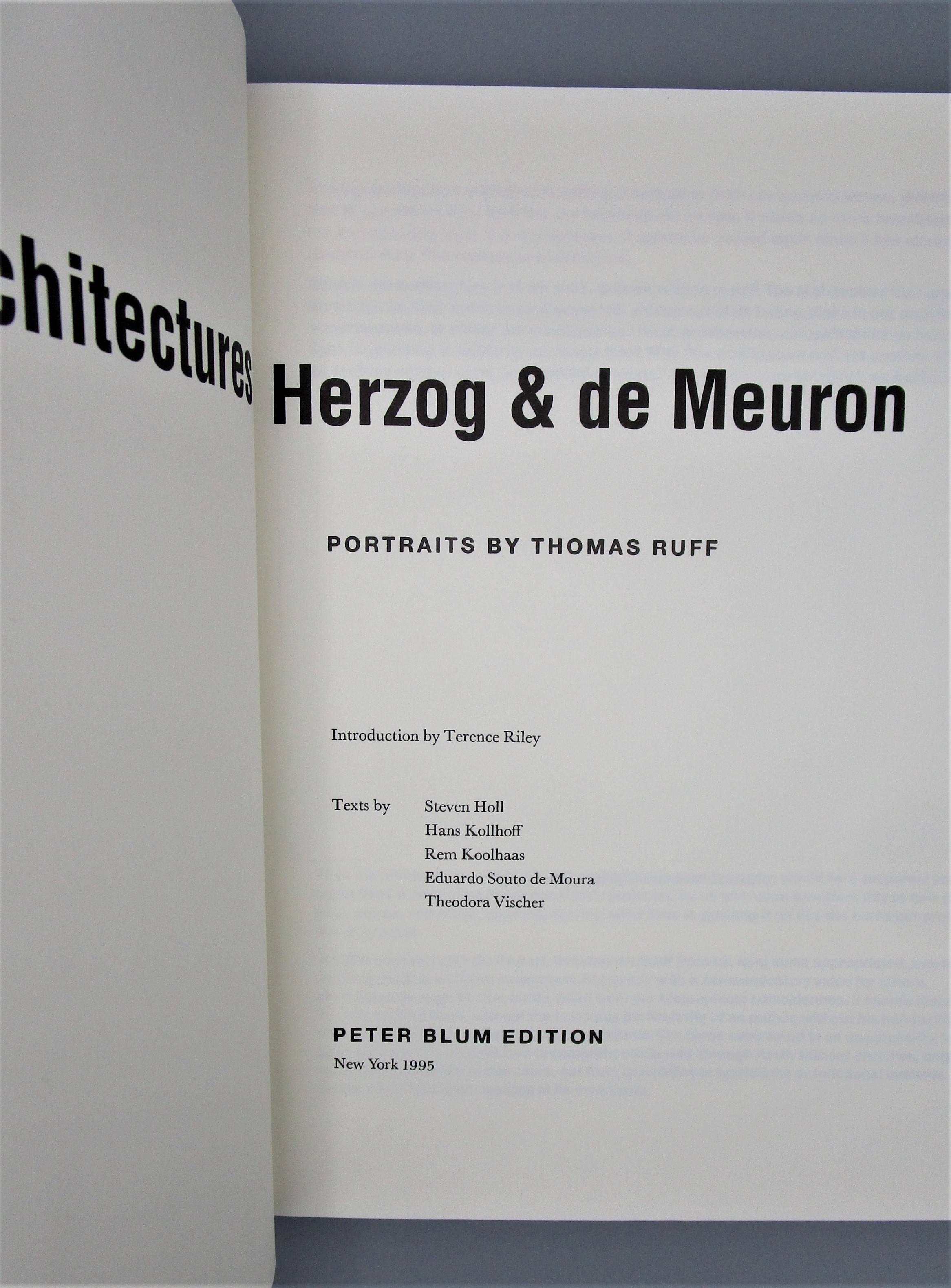 ARCHITECTURES OF HERZOG & DE MEURON, by Thomas Ruff - 1995 [2nd Ed]