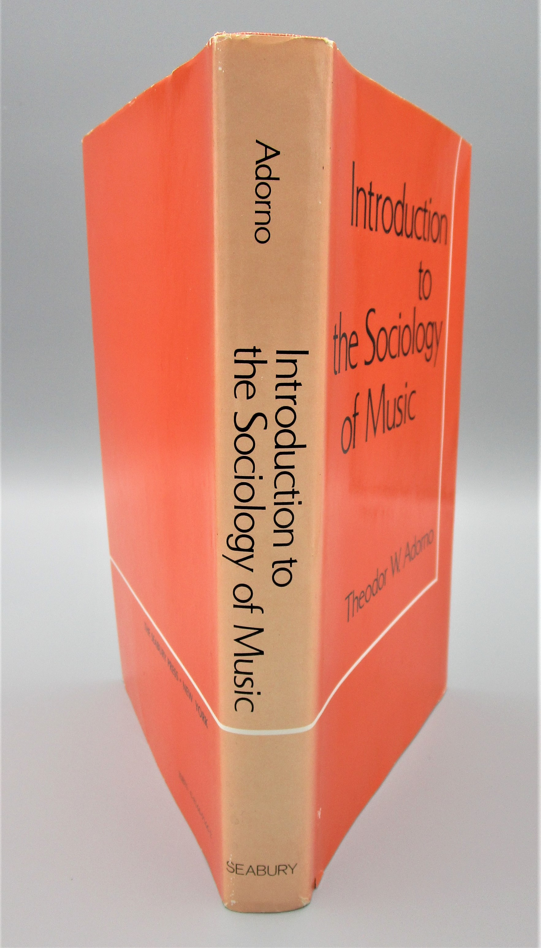 INTRODUCTION TO THE SOCIOLOGY OF MUSIC, by Theodor W. Adorno - 1976