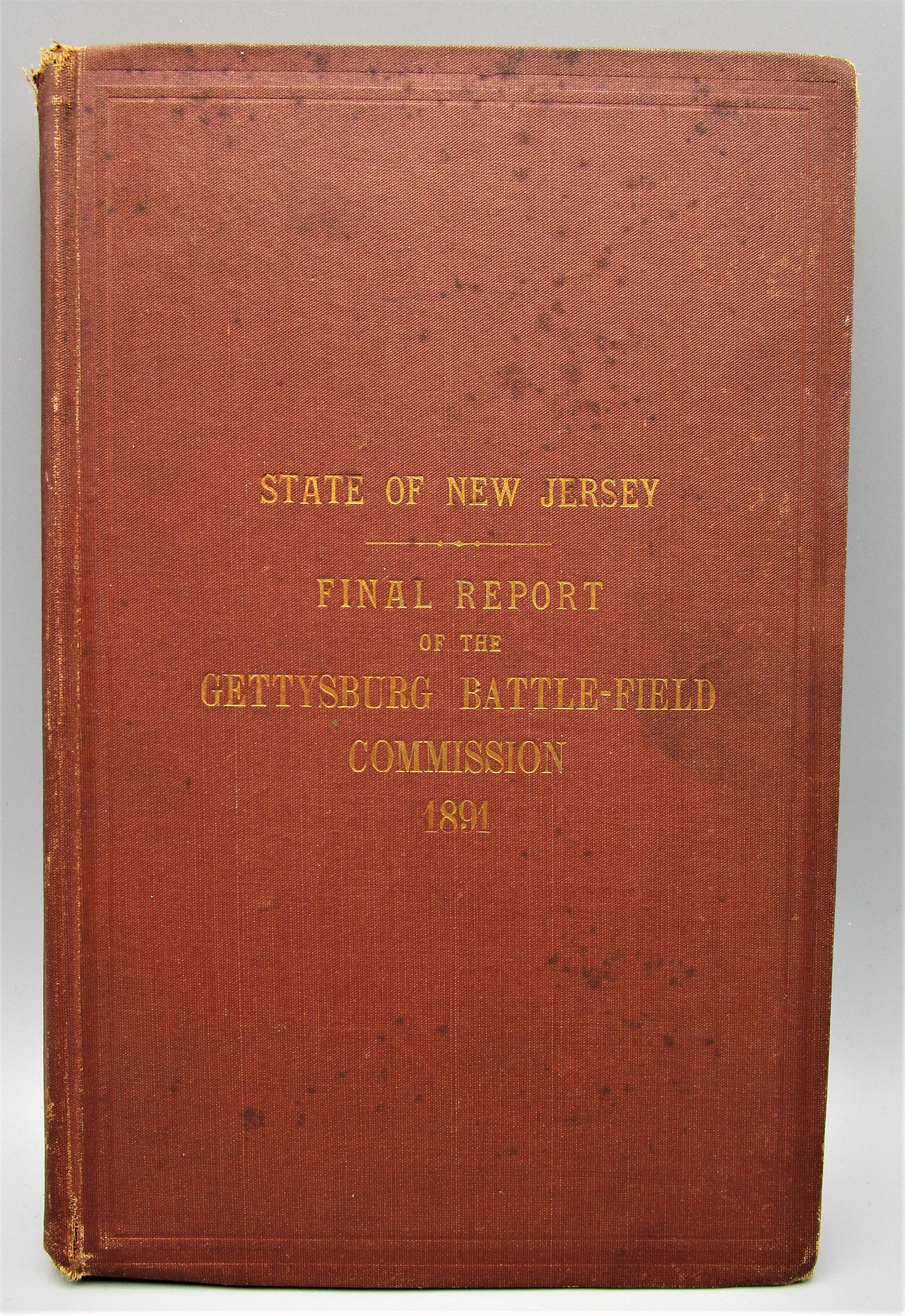 FINAL REPORT OF THE GETTYSBURG BATTLEFIELD COMMISSION - 1891