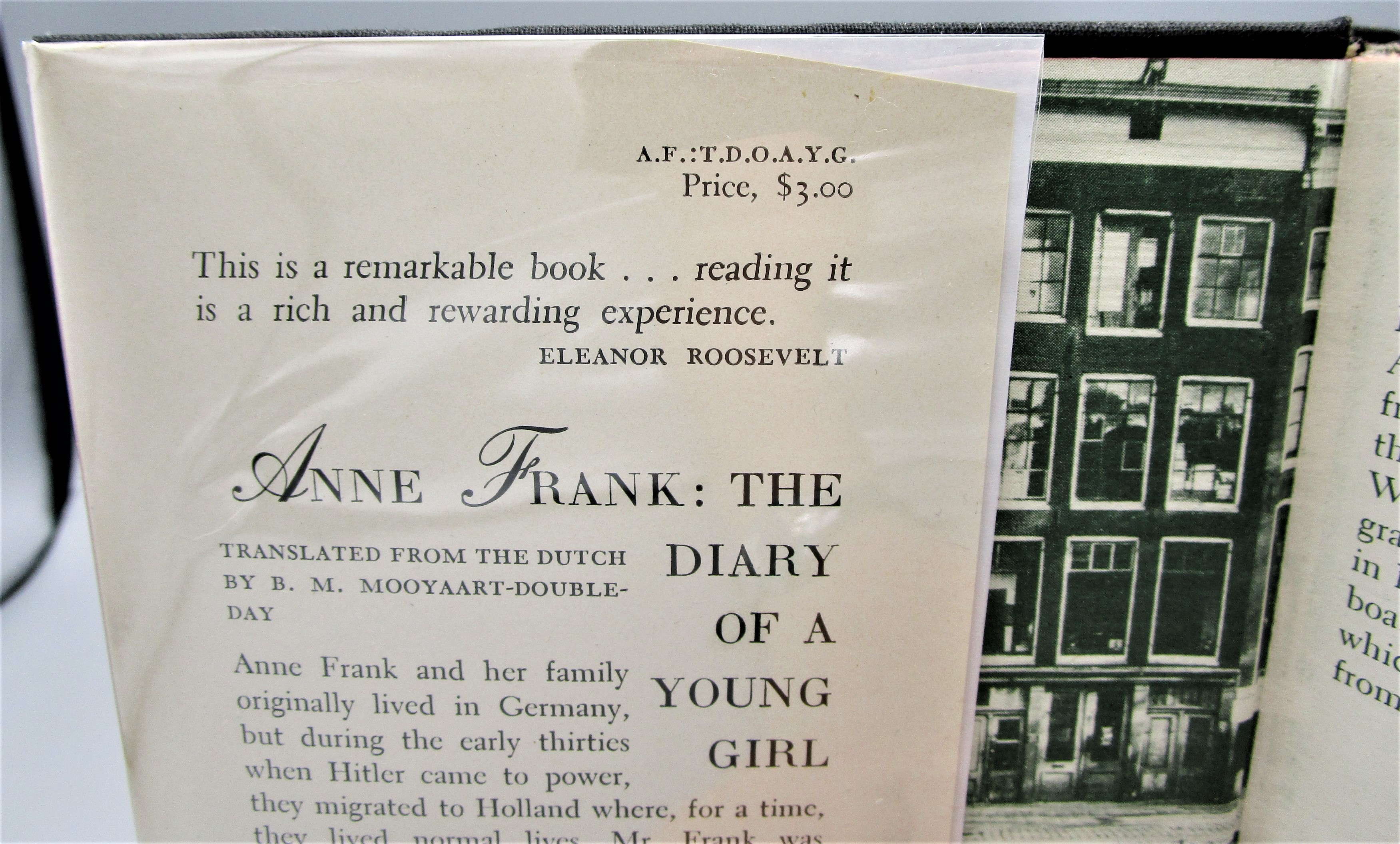 ANNE FRANK: THE DIARY OF A YOUNG GIRL - 1952 [1st English Ed]