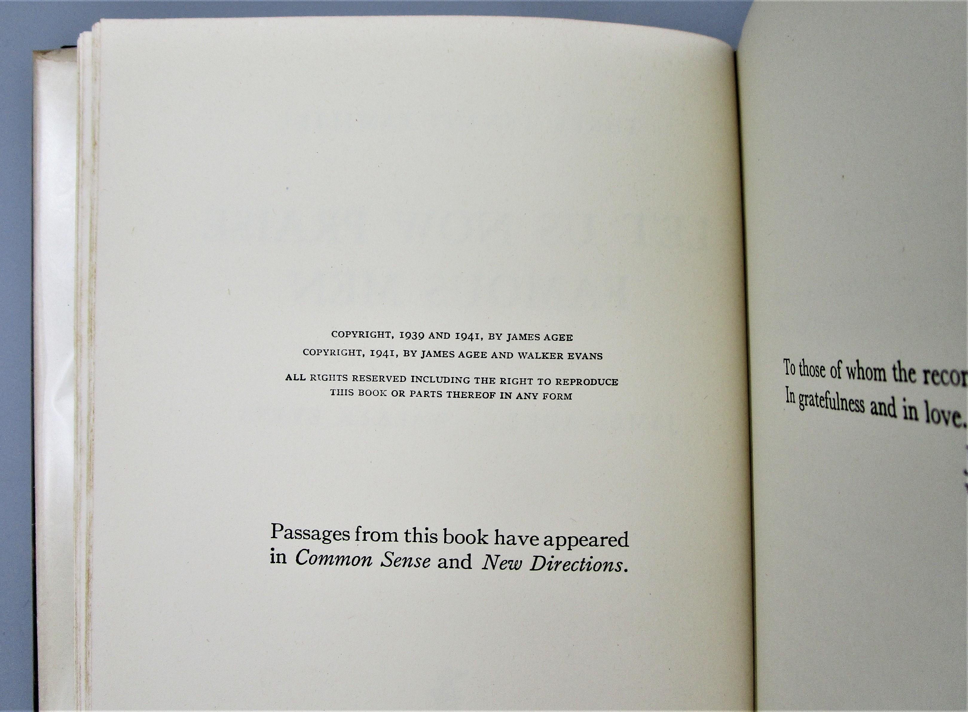 LET US NOW PRAISE FAMOUS MEN, by James Agee; Walker Evans - 1941 [1st Ed w/original DJ]