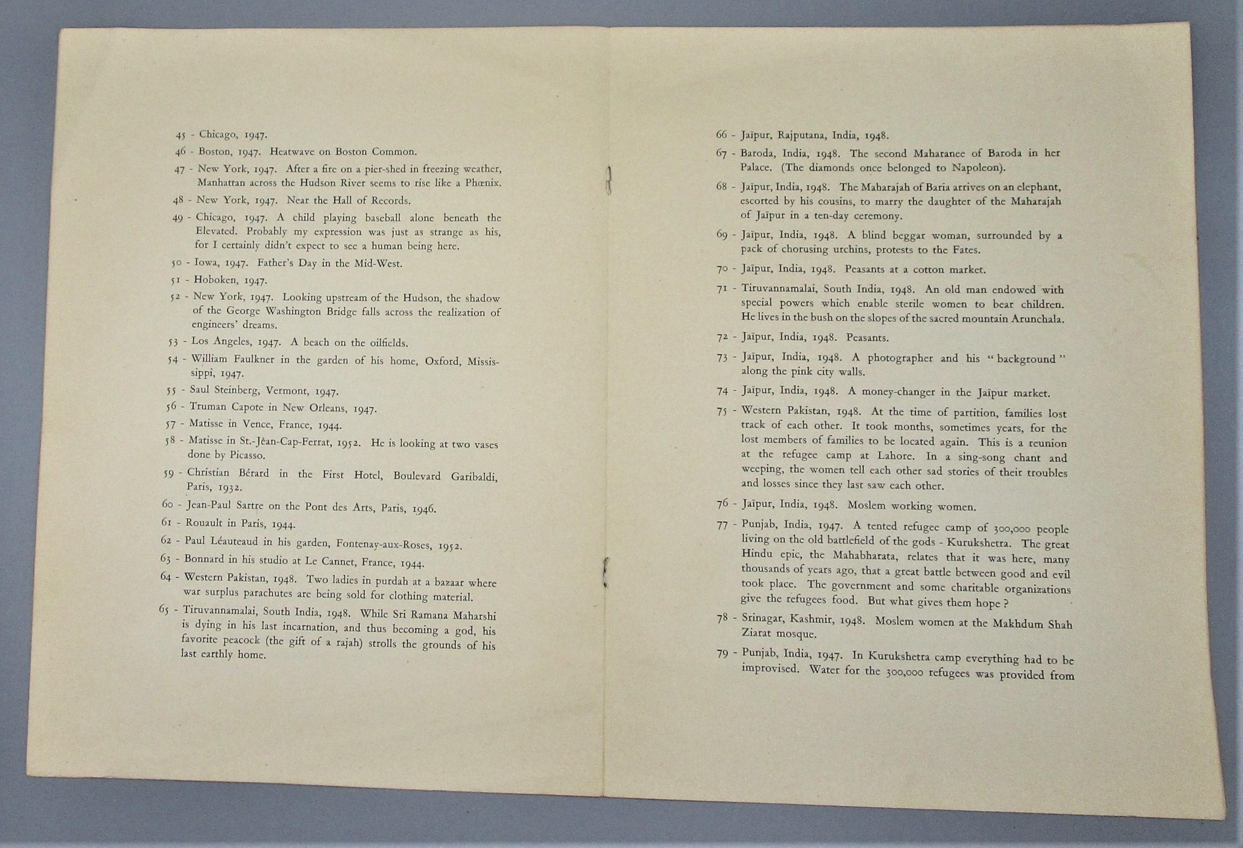 THE DECISIVE MOMENT, by Henri Cartier Bresson - 1952 [1st Ed]