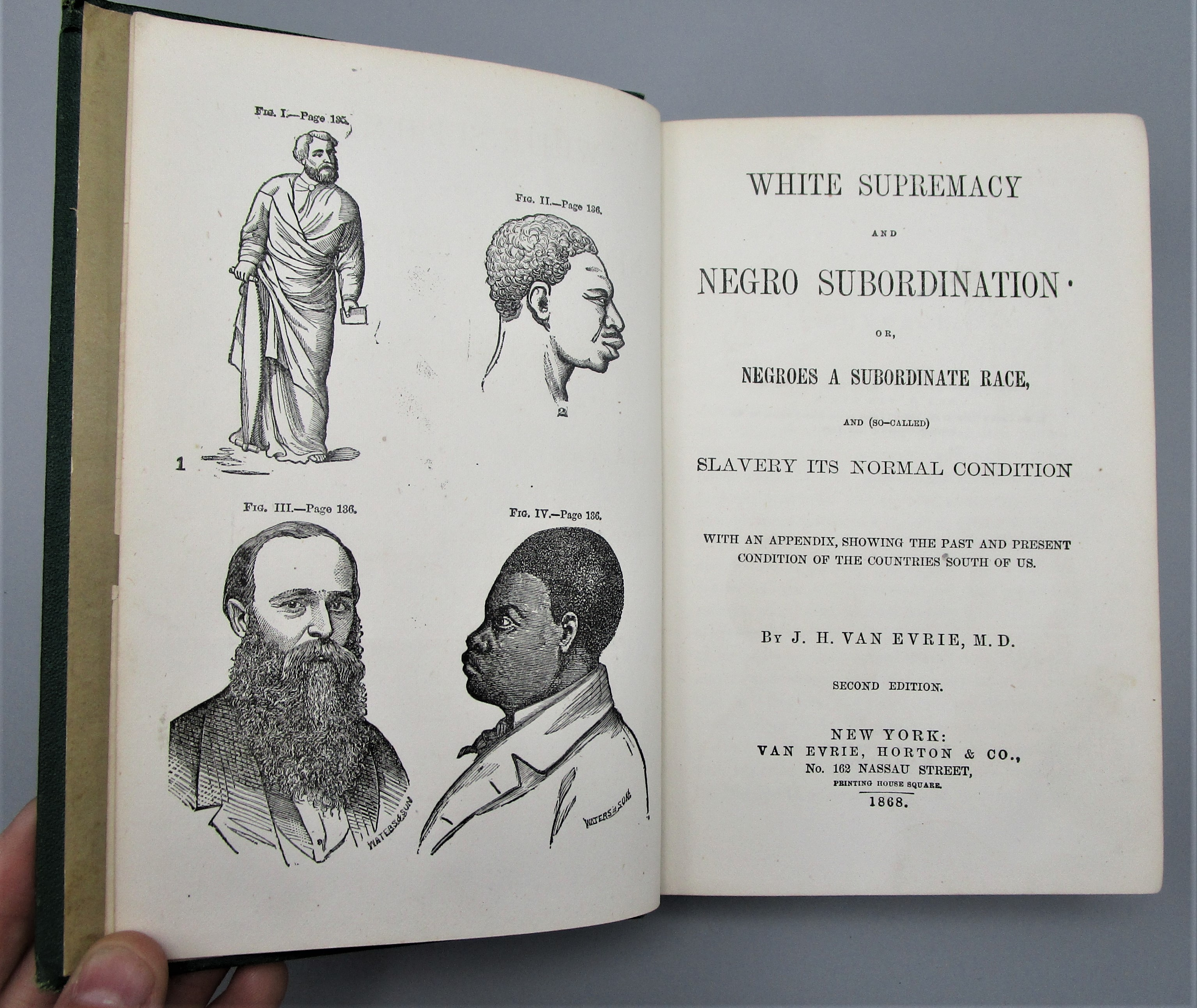 WHITE SUPREMACY AND NEGRO SUBORDINATION, by J.H. Van Evrie, M.D. - 1868