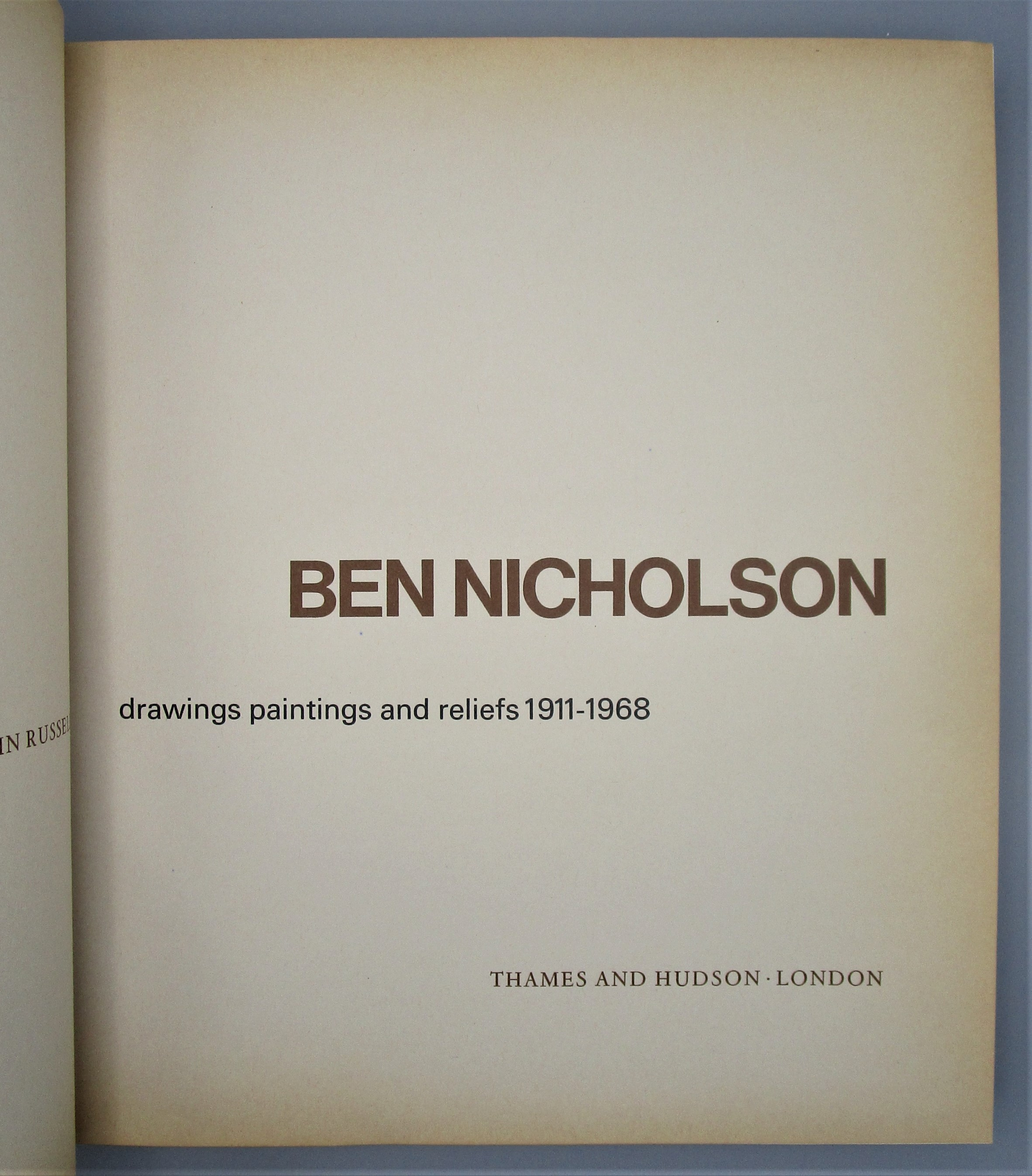 BEN NICHOLSON DRAWINGS PAINTINGS AND RELIEFS, by John russell - 1969