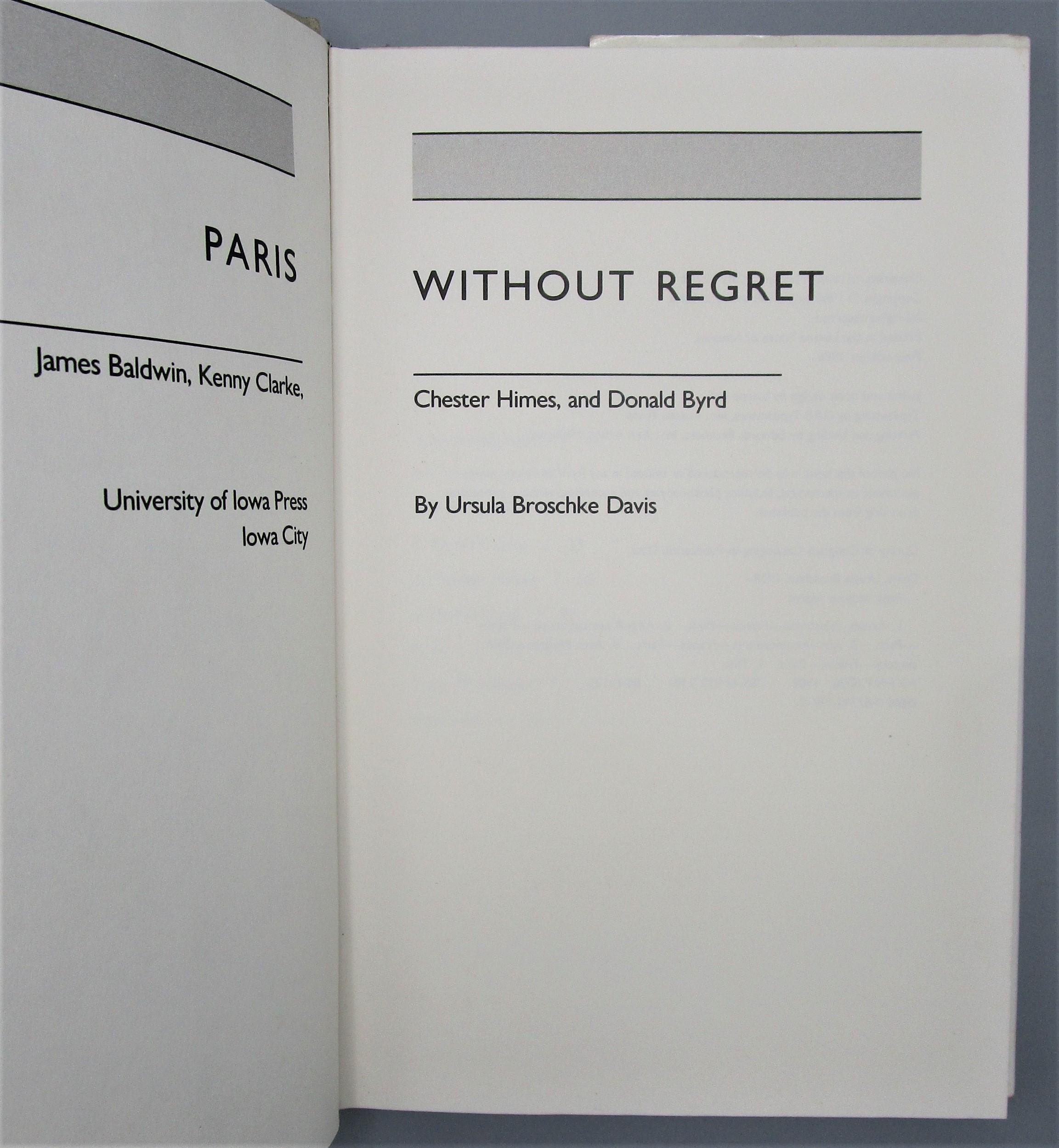 PARIS WITHOUT REGRET, by Ursula Broschke Davis - 1986 [1st Ed]