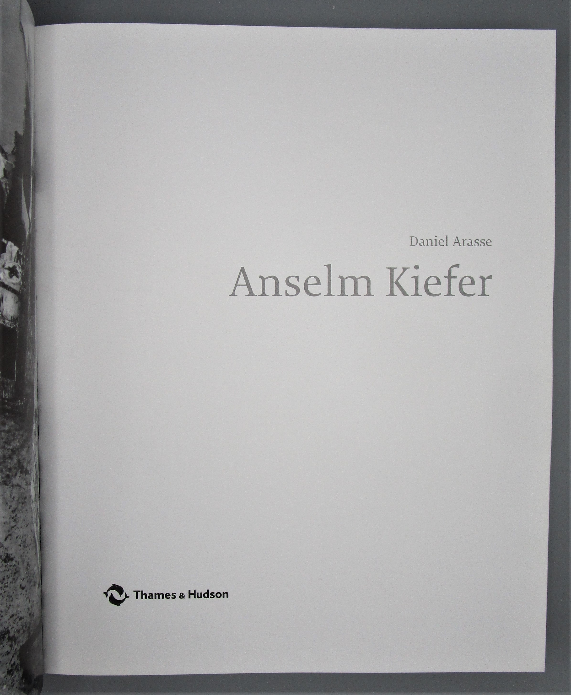 ANSELM KIEFER, by Daniel Arasse - 2001