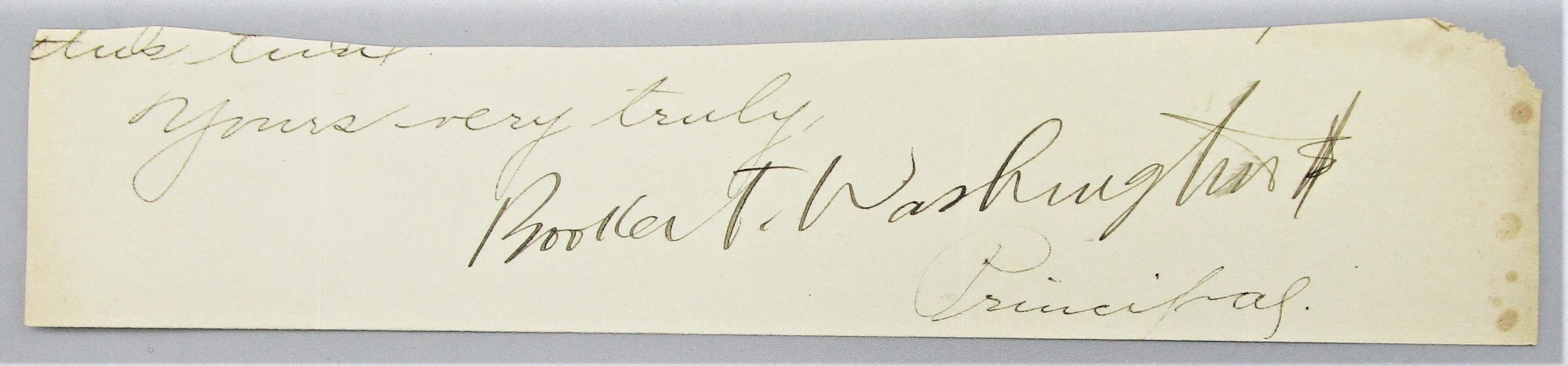 BOOKER T. WASHINGTON's AUTOGRAPH
