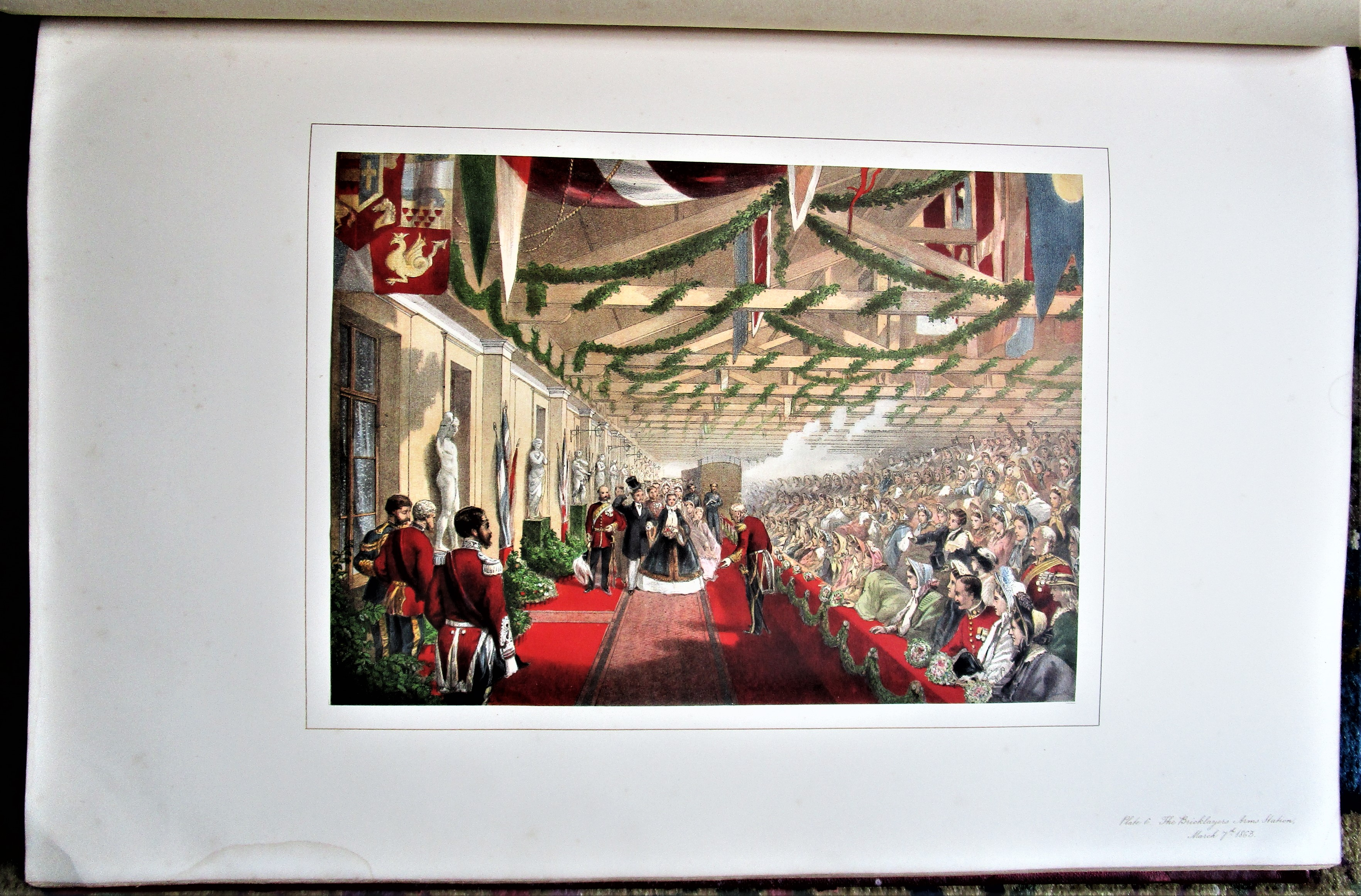 MEMORIAL OF THE MARRIAGE OF ALBERT EDWARD PRINCE OF WALES, by W.H. Russell; R. Dudley - 1863