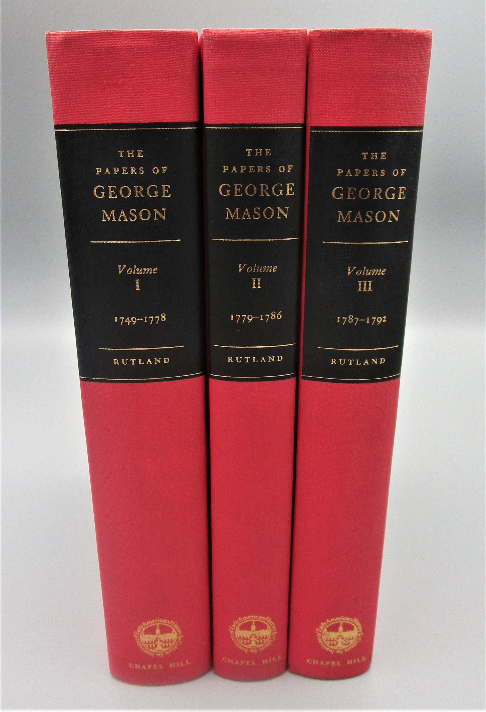 PAPERS OF GEORGE MASON 1725-1792, by Robert A. Rutland - 1970 [3 Vols]