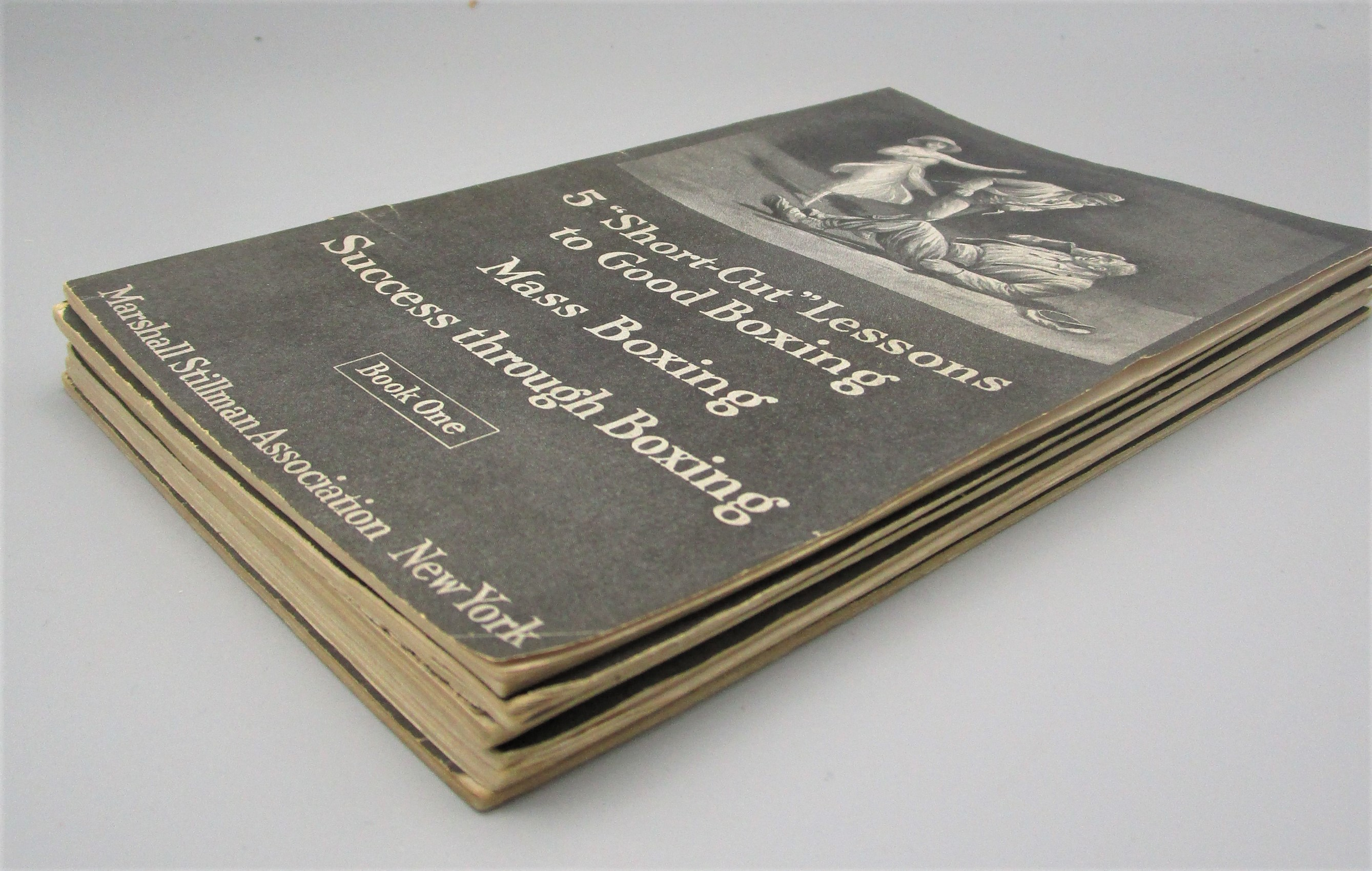 5 SHORT-CUT LESSONS TO GOOD BOXING, by Marshall Stillman Association- 1922 [6 Pamphlets]