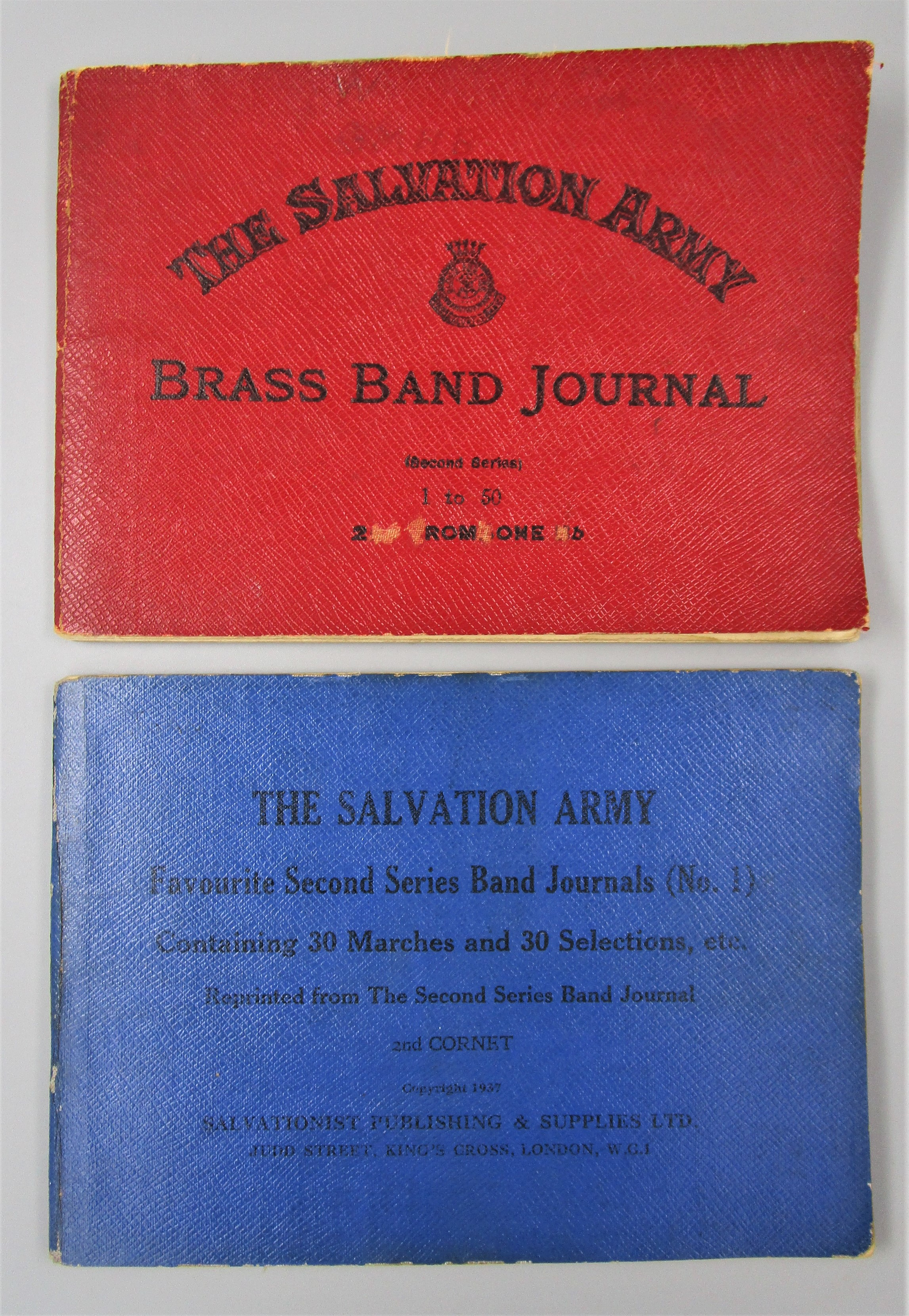 THE SALVATION ARMY BRASS BAND JOURNAL, by Salvationist Publishing - (1920s) [2 books]