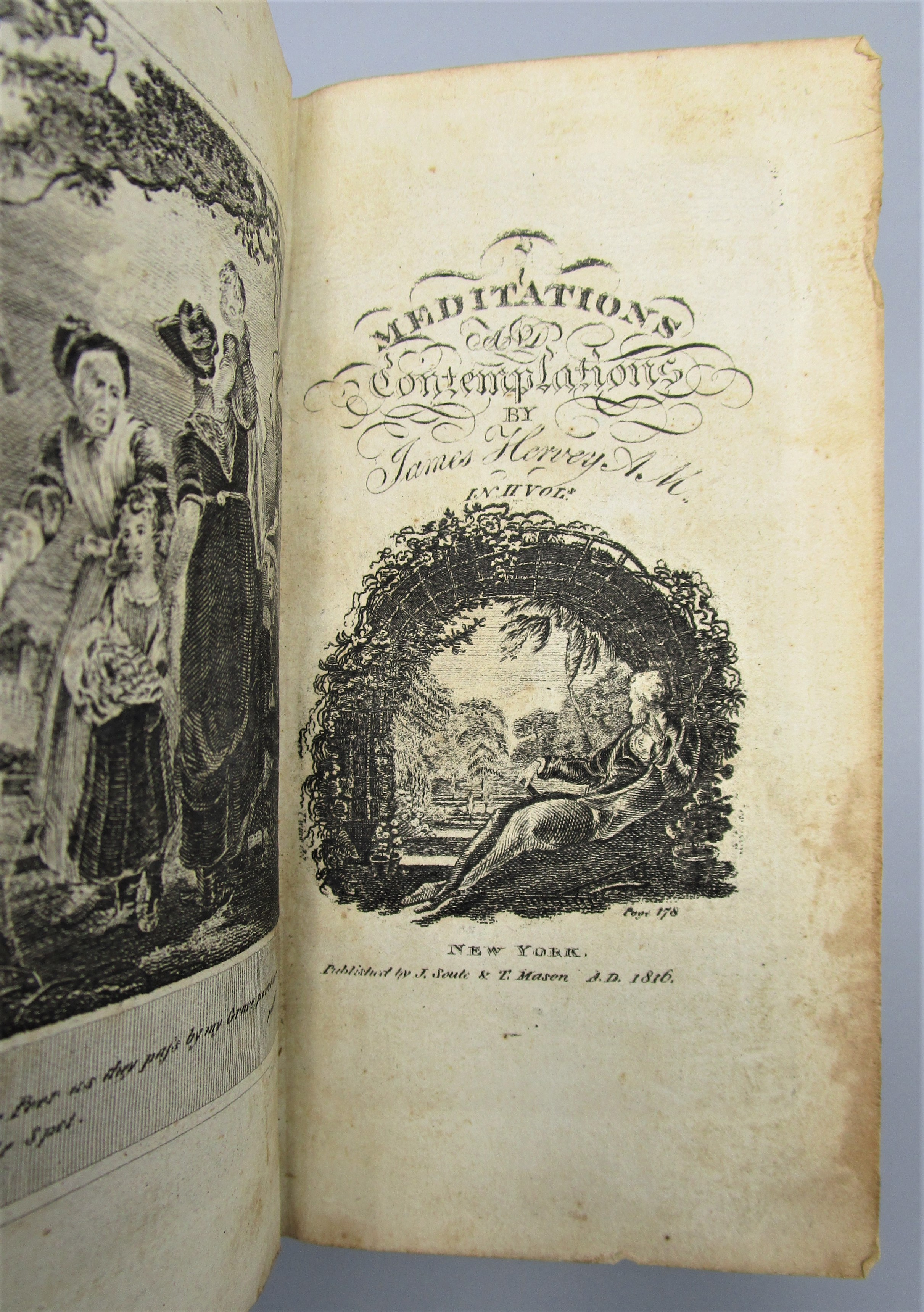 MEDITATIONS AND CONTEMPLATIONS, by James Hervey, A.M. - 1816 [2 Vol]