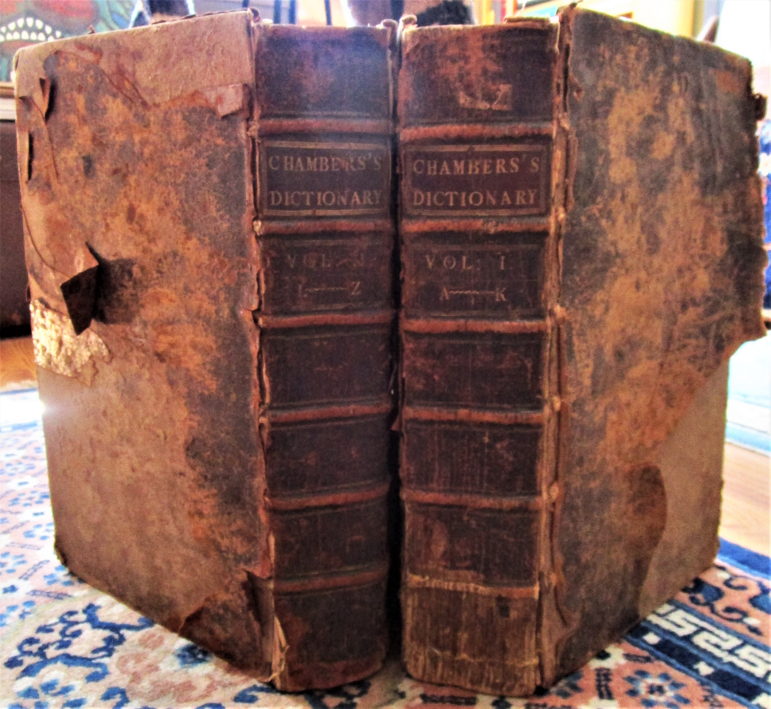 CYCLOPAEDIA OF ARTS AND SCIENCES, by E. Chambers - 1741 [2 Vols]