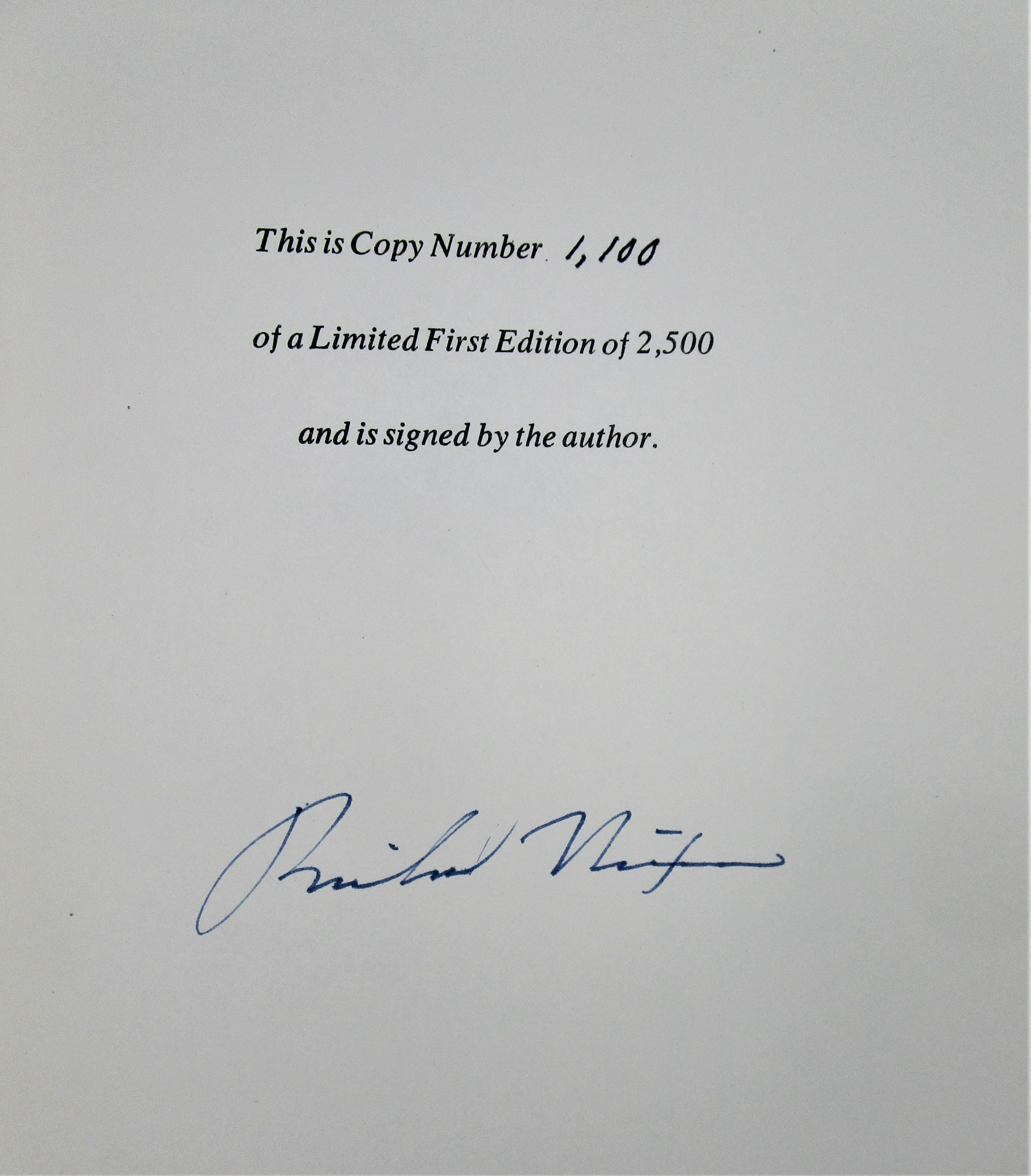 THE MEMOIRS OF RICHARD NIXON - 1978 [Signed Ltd 1st Ed] *COA*