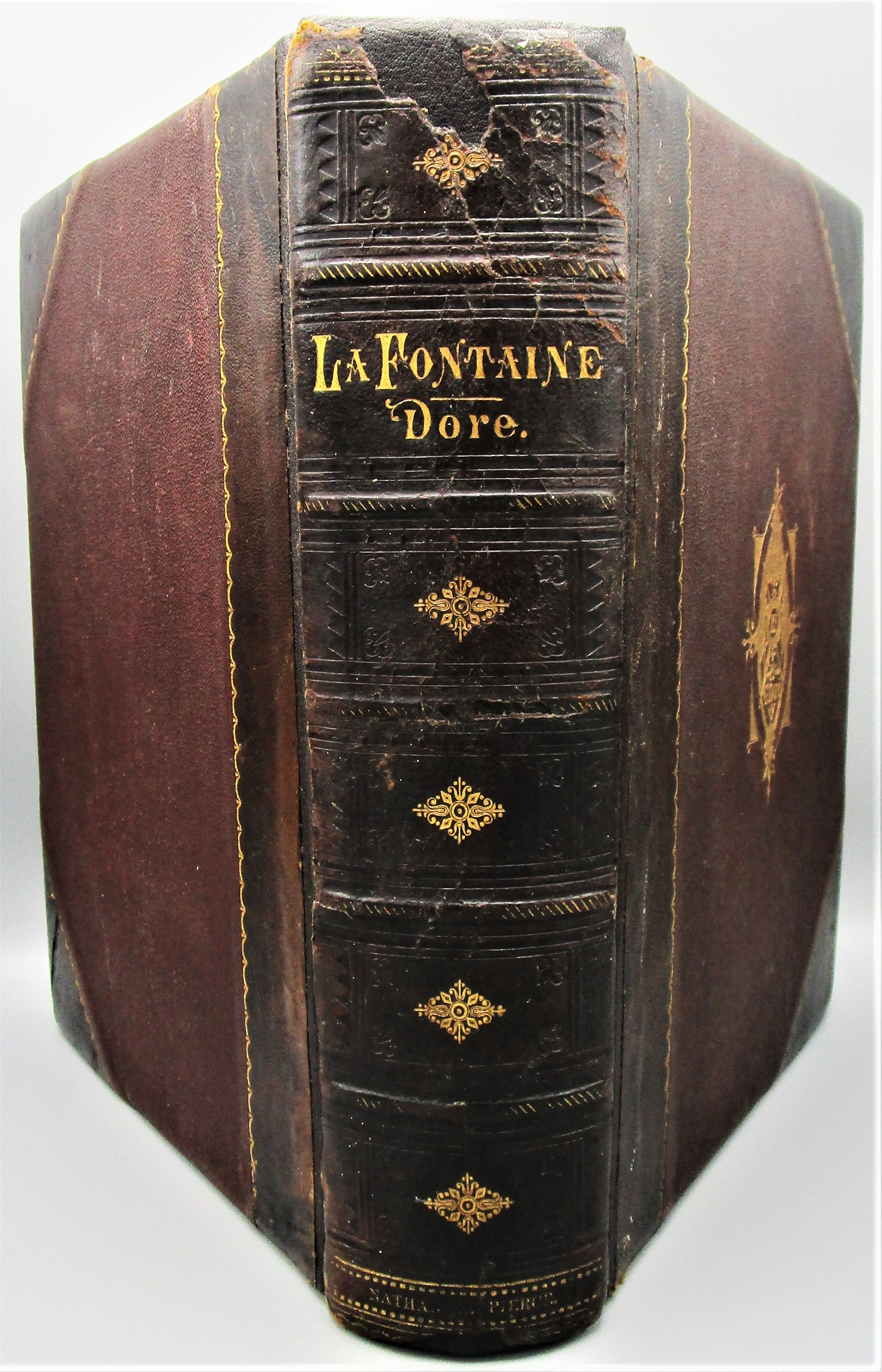 FABLES OF LA FONTAINE, illustr. by Gutave Dore - c.1870 [Fine Binding]