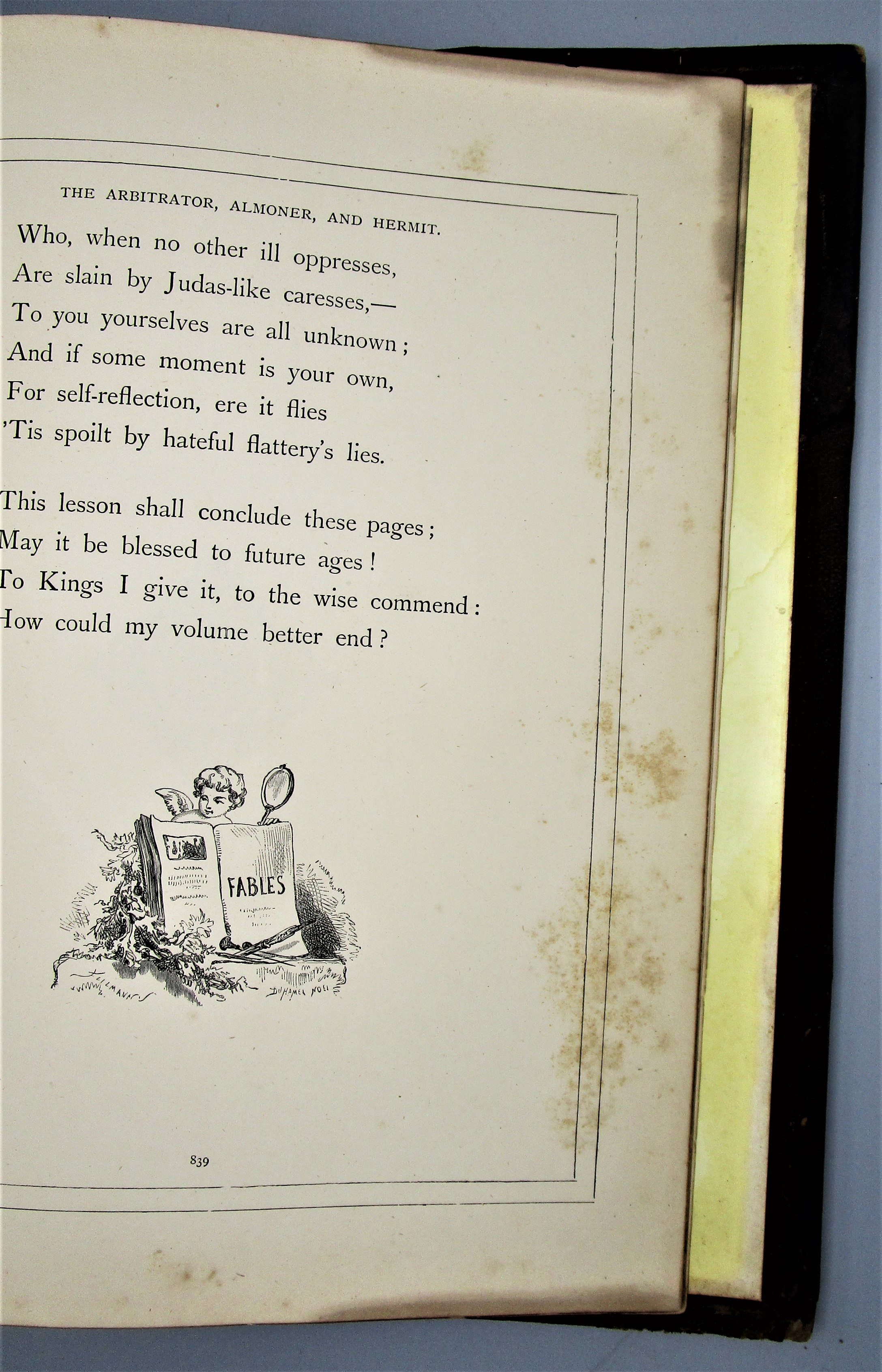 THE FABLES OF LA FONTAINE, illus. by Gutave Dore - c.1870