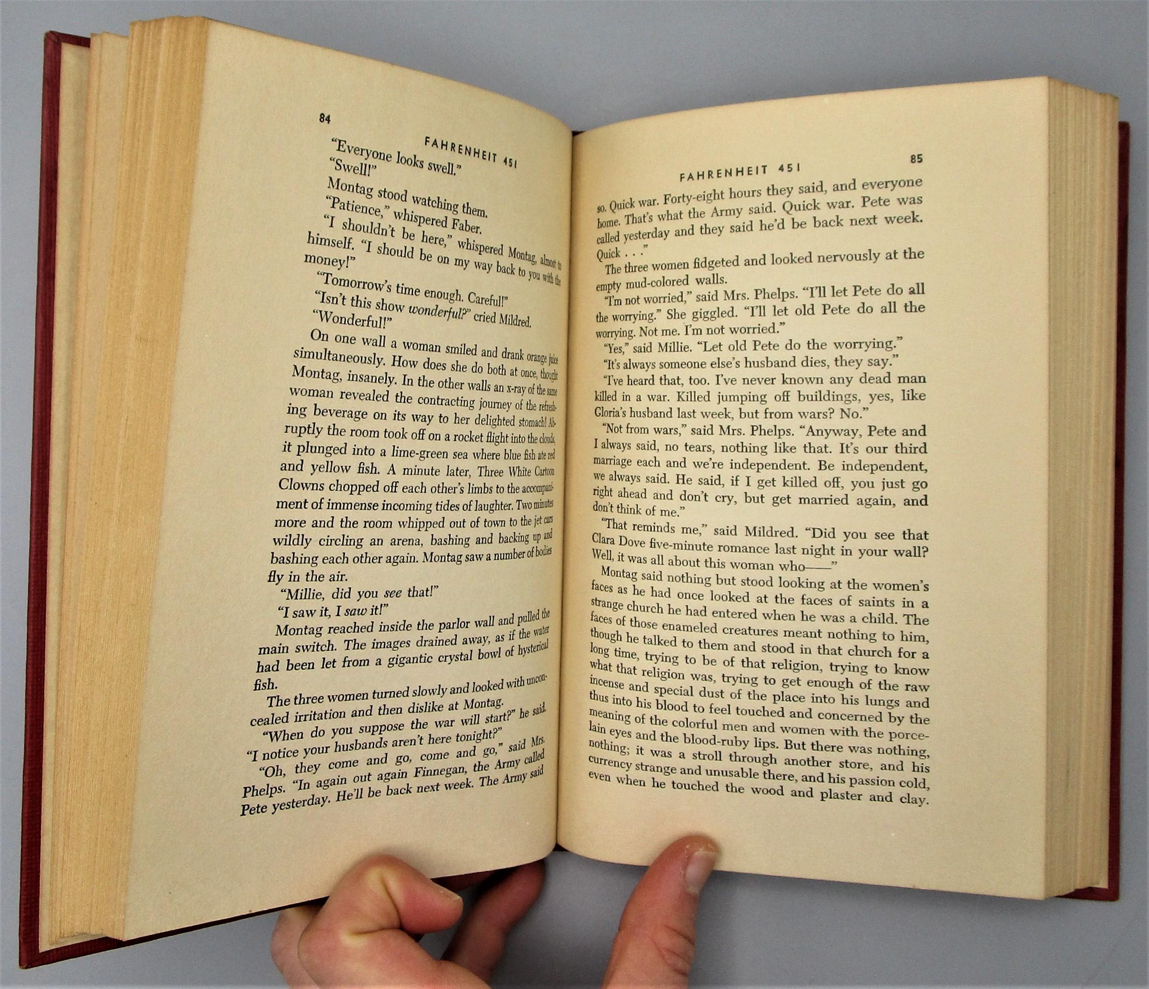 FAHRENHEIT 451, by Ray Bradbury - 1953 [1st Ed]