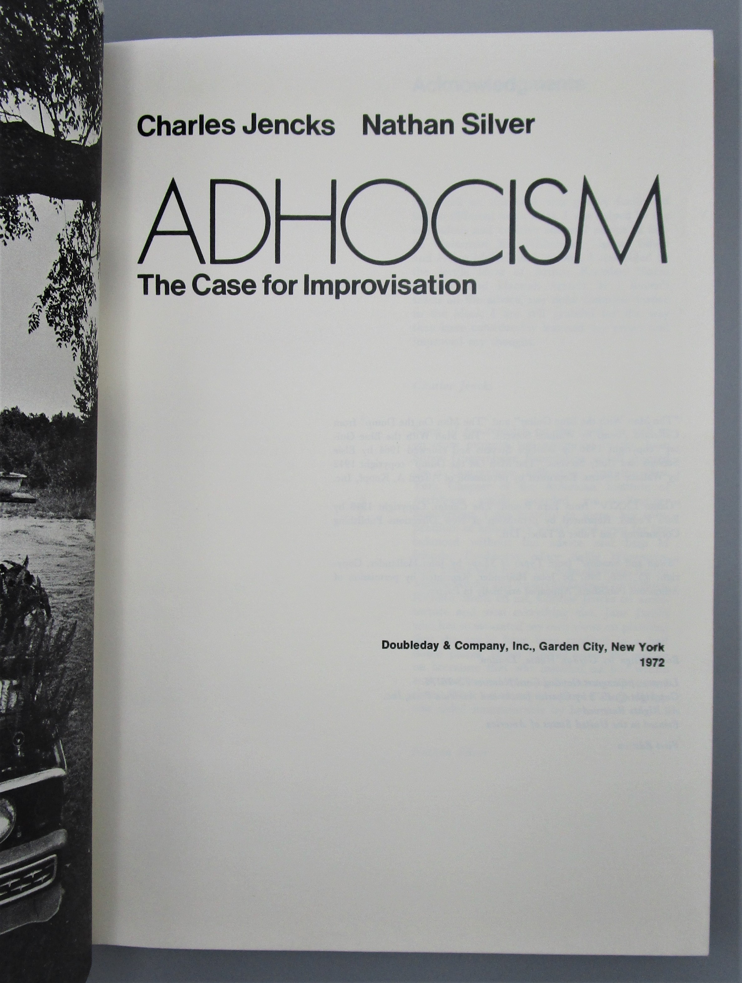 ADHOCISM: THE CASE FOR IMPROVISATION, by Charles Jencks & Nathan Silver  - 1972 [1st Ed]