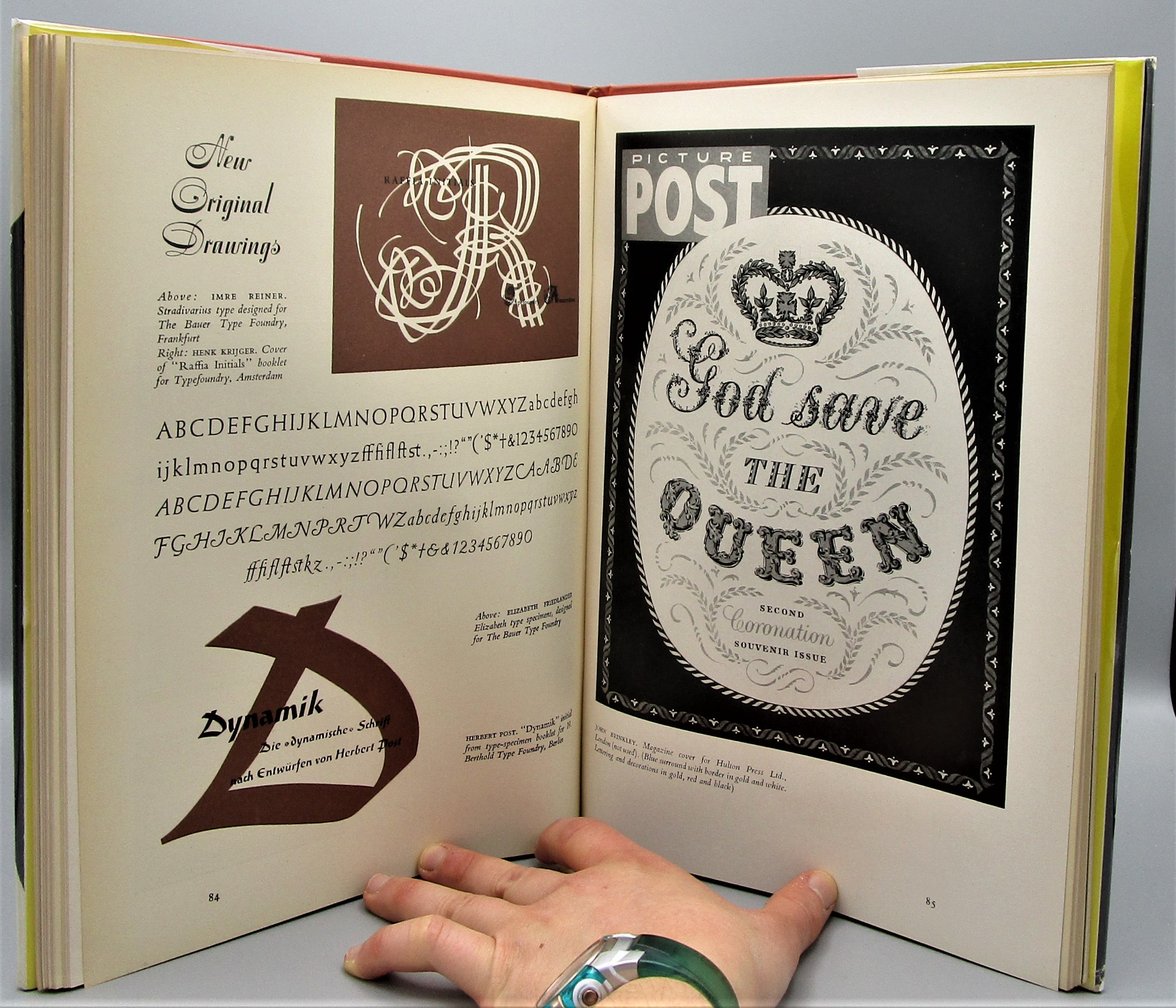 MODERN LETTERING AND CALLIGRAPHY, ed by R. Holme  & K. Frost - 1954 [1st Ed]