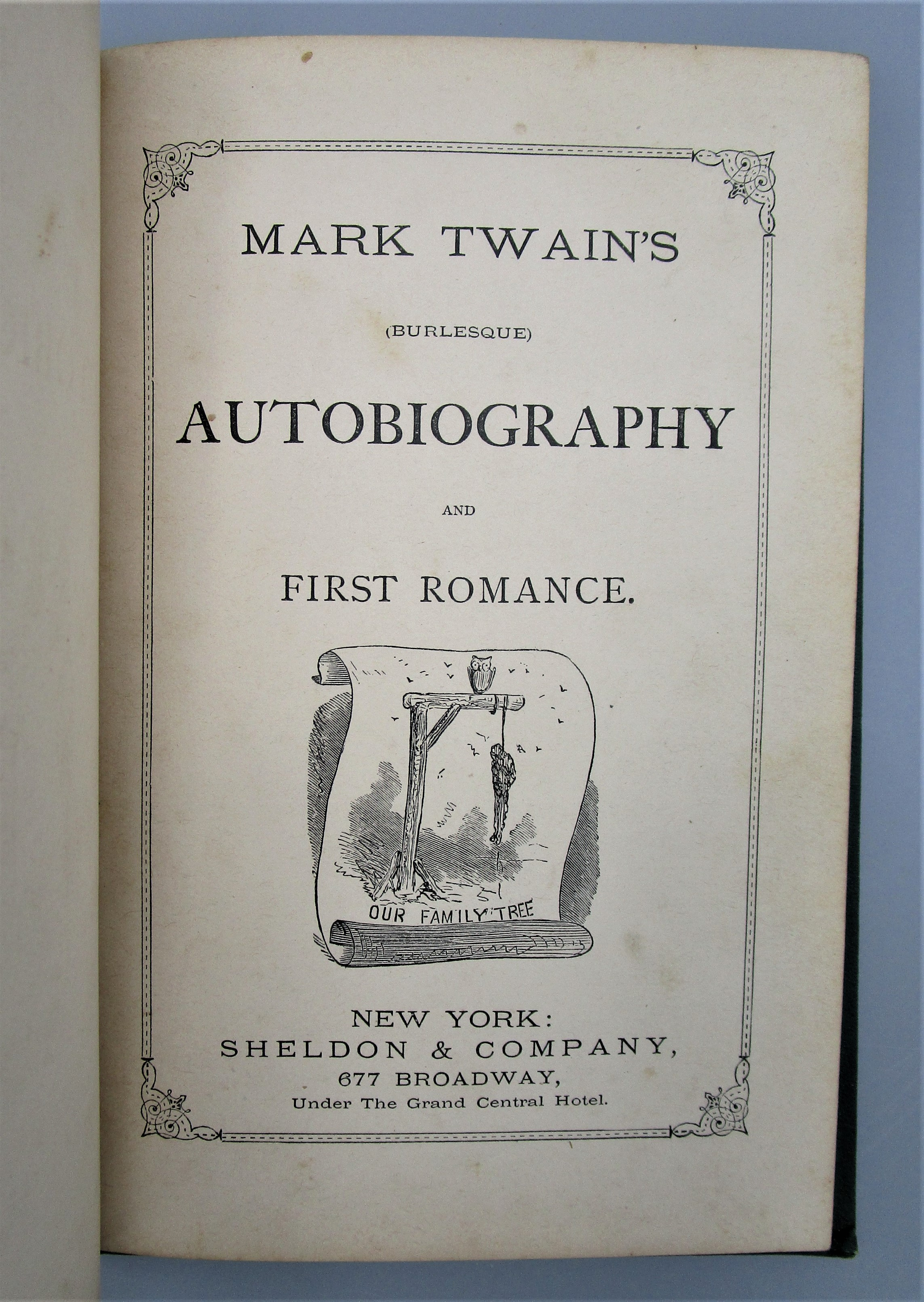 MARK TWAIN'S AUTOBIOGRAPHY AND FIRST ROMANCE, by Mark Twain - 1871